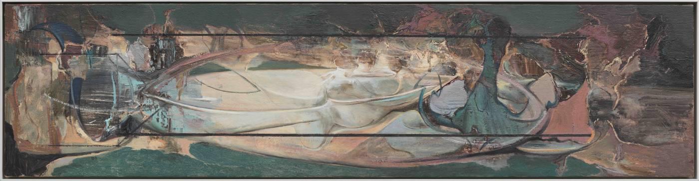 李昌龍Li Chang-Long 重器Heavy Device 油彩、畫布Oil on canvas 30x120cm 2019