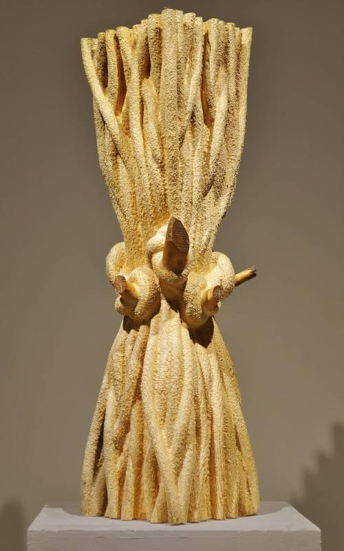 葛平偉 Ge Pingwei 《•结•》之十一 • Knot•No.11 30x30x113cm 樟子松木 Pinus sylvestris 2014
