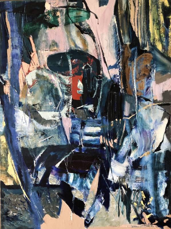 林偉民Wei-Min Lin  原始記憶-2 Primitive Memory 2油彩、畫布 oil on canvas130x97cm2015