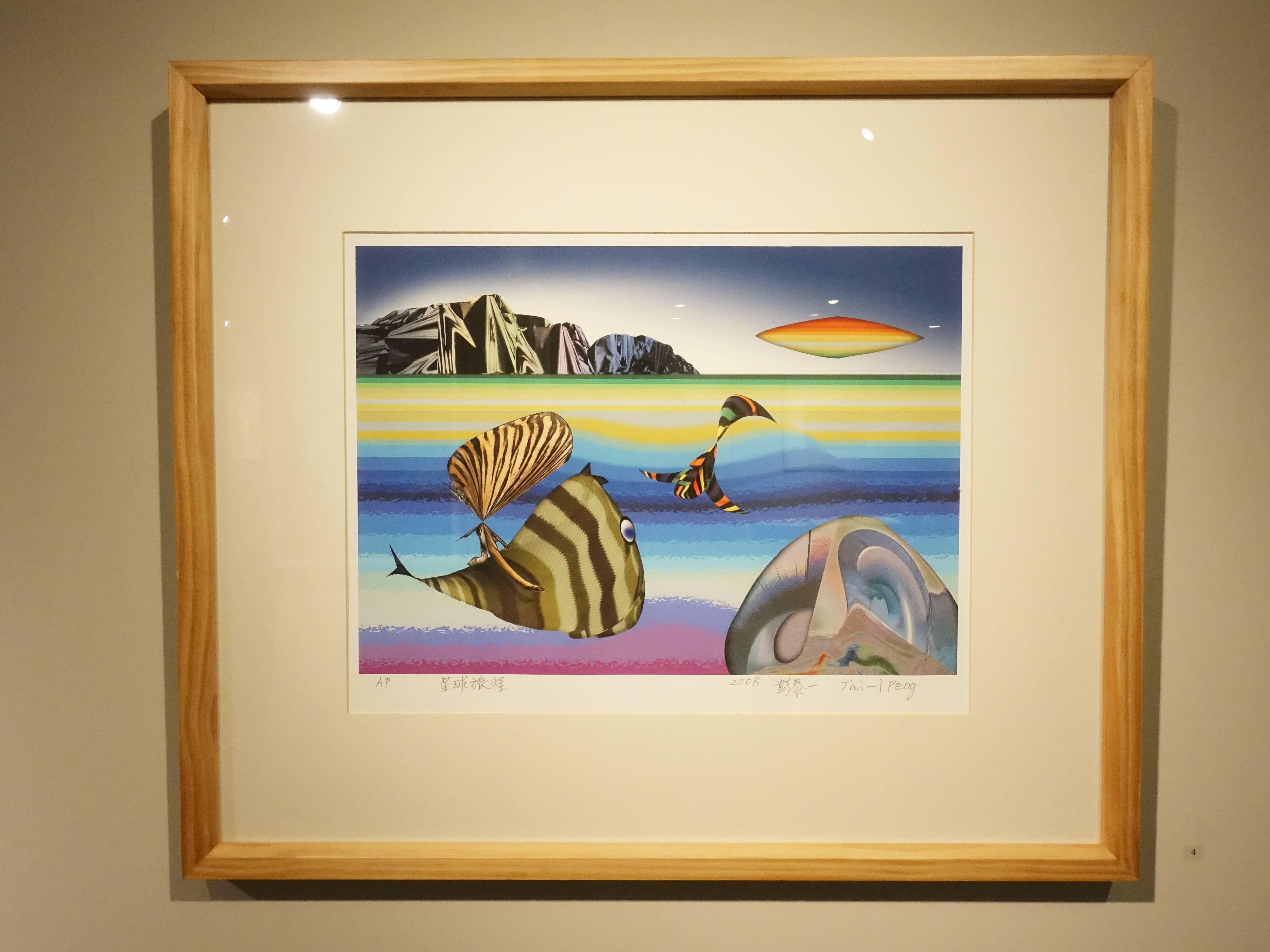 彭泰一,《星球旅程》,30 x 48 cm,AP,數位版畫,2008。
