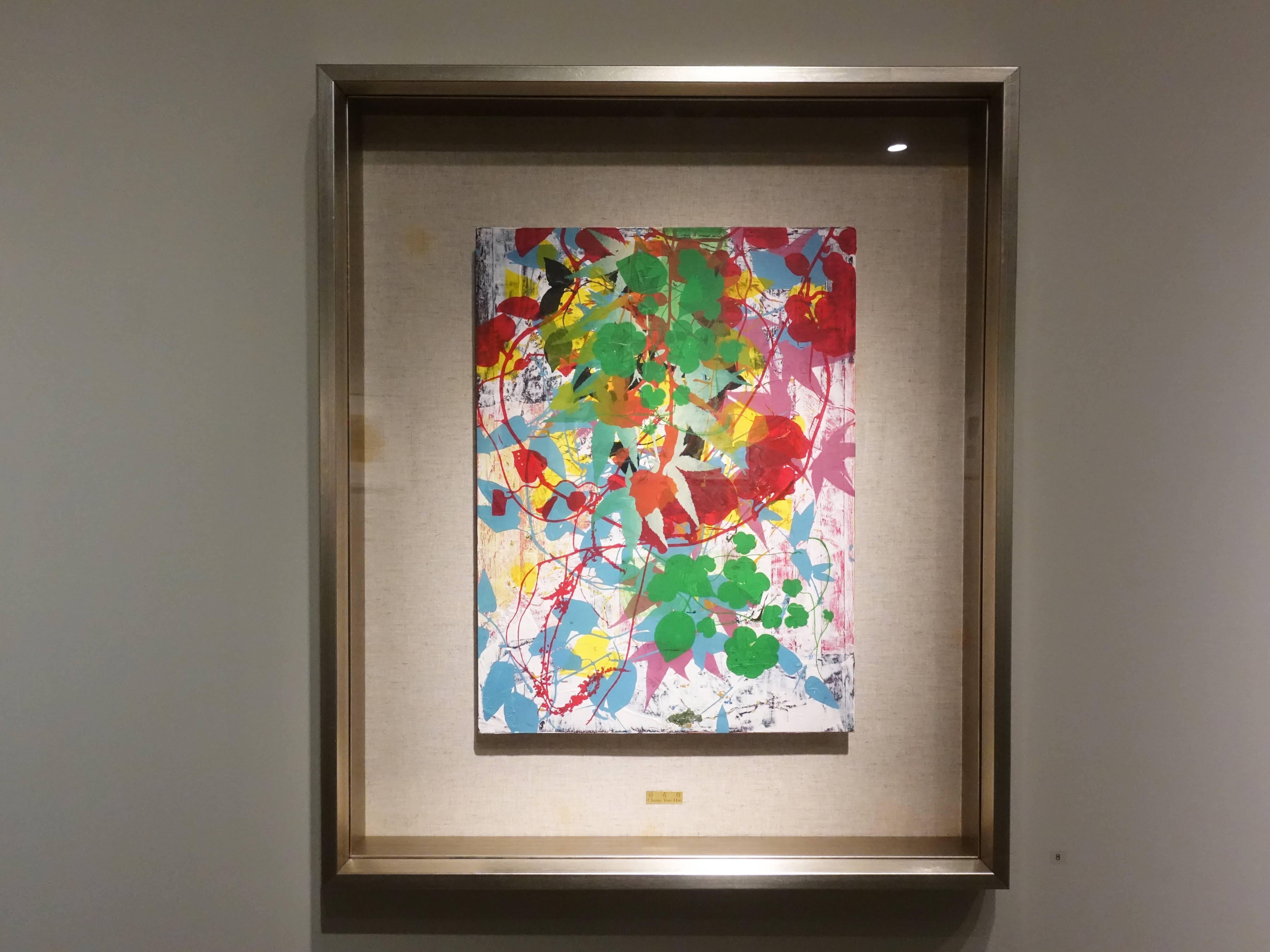 鐘有輝,《春之氣息》,40 x 30 cm,1/1,綜合媒材,2013。