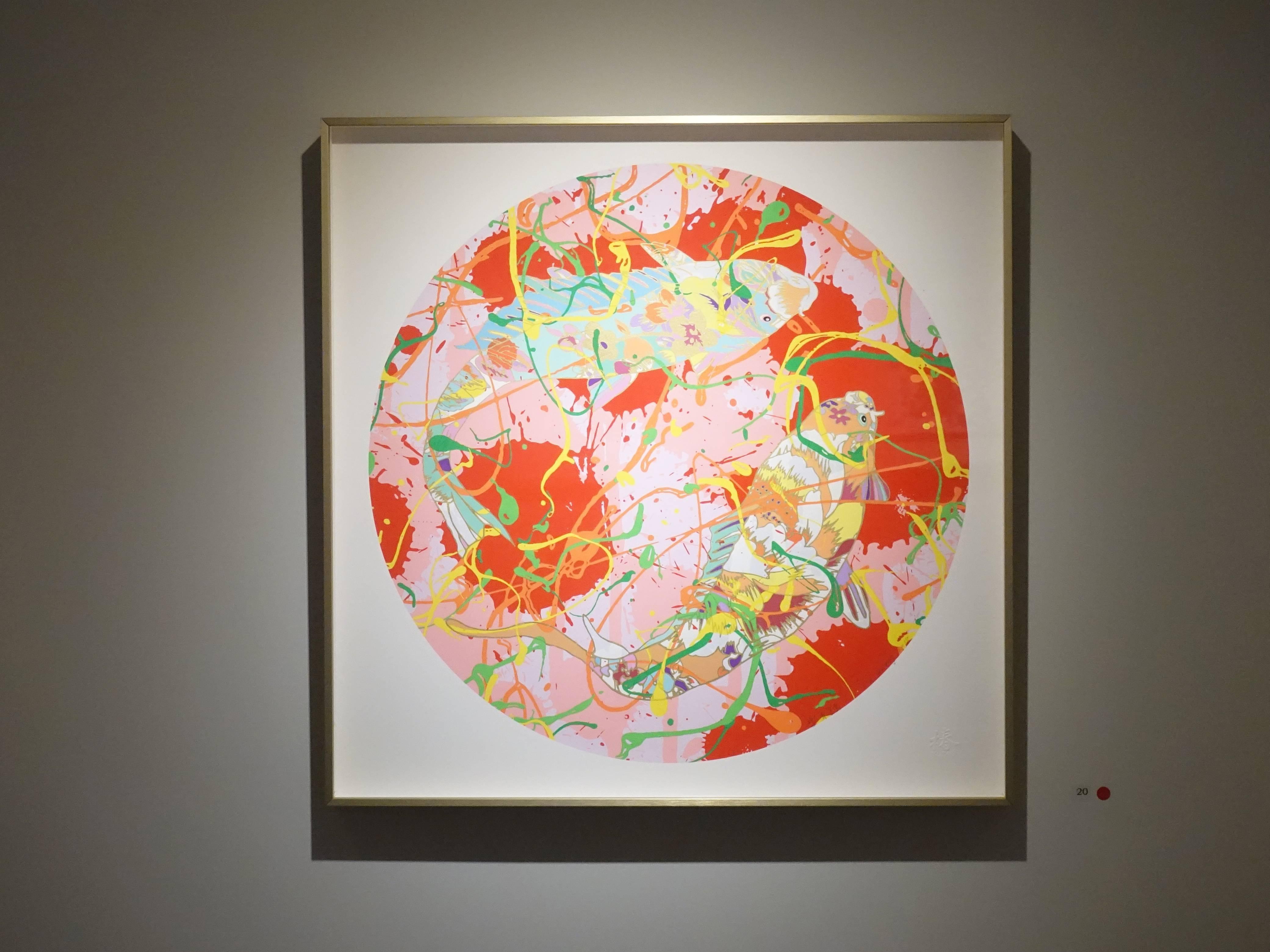 黃樁元,《樂有餘》,50 x 50 cm,11/30,絹版,2018。