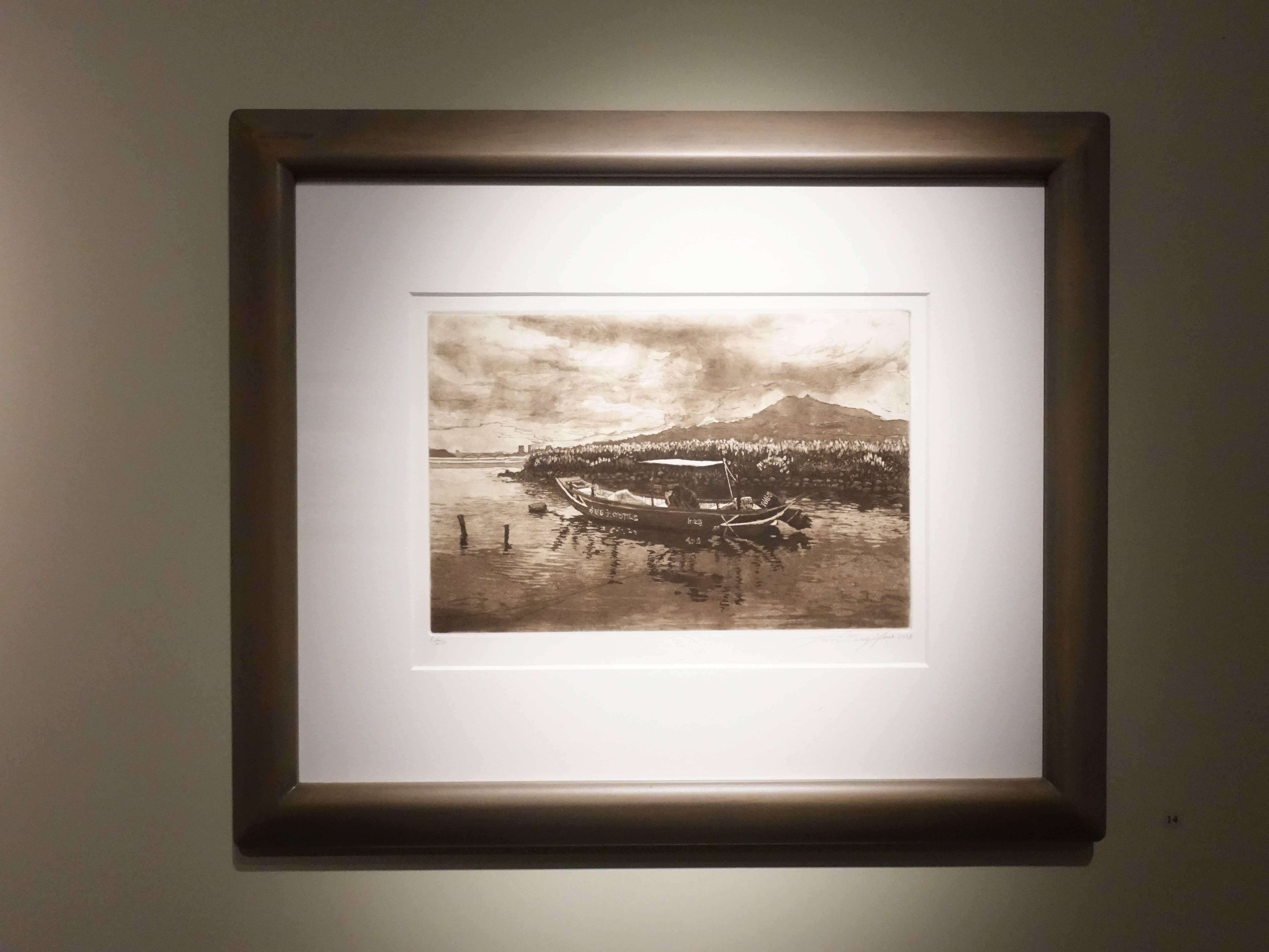 潘孟堯,《台北港》,30 x 20 cm,1/50,銅版蝕刻,2018。