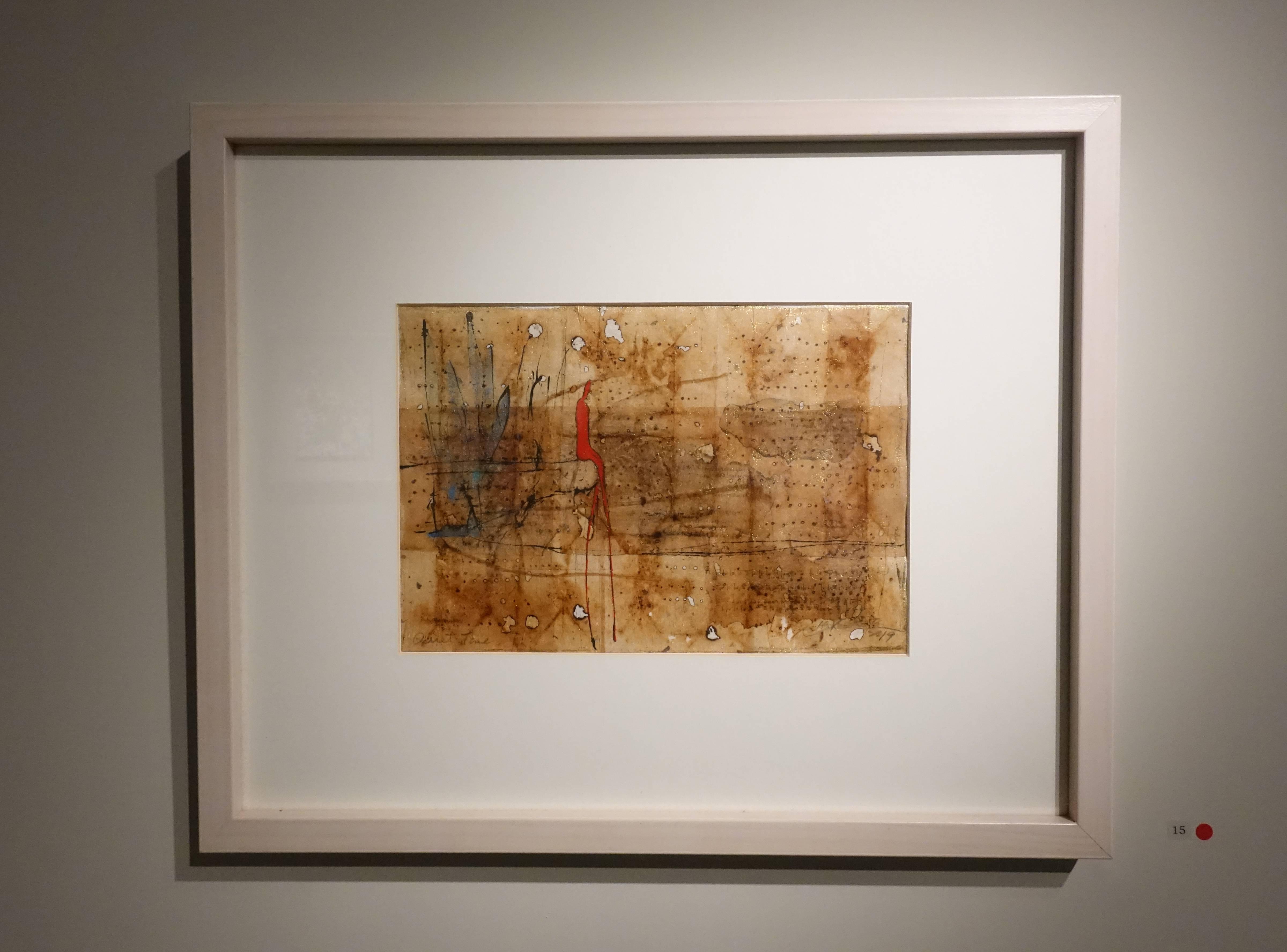 金炫辰,《寧靜時刻》,21 x 31 cm,1/1,複合媒材、畫布,2019。