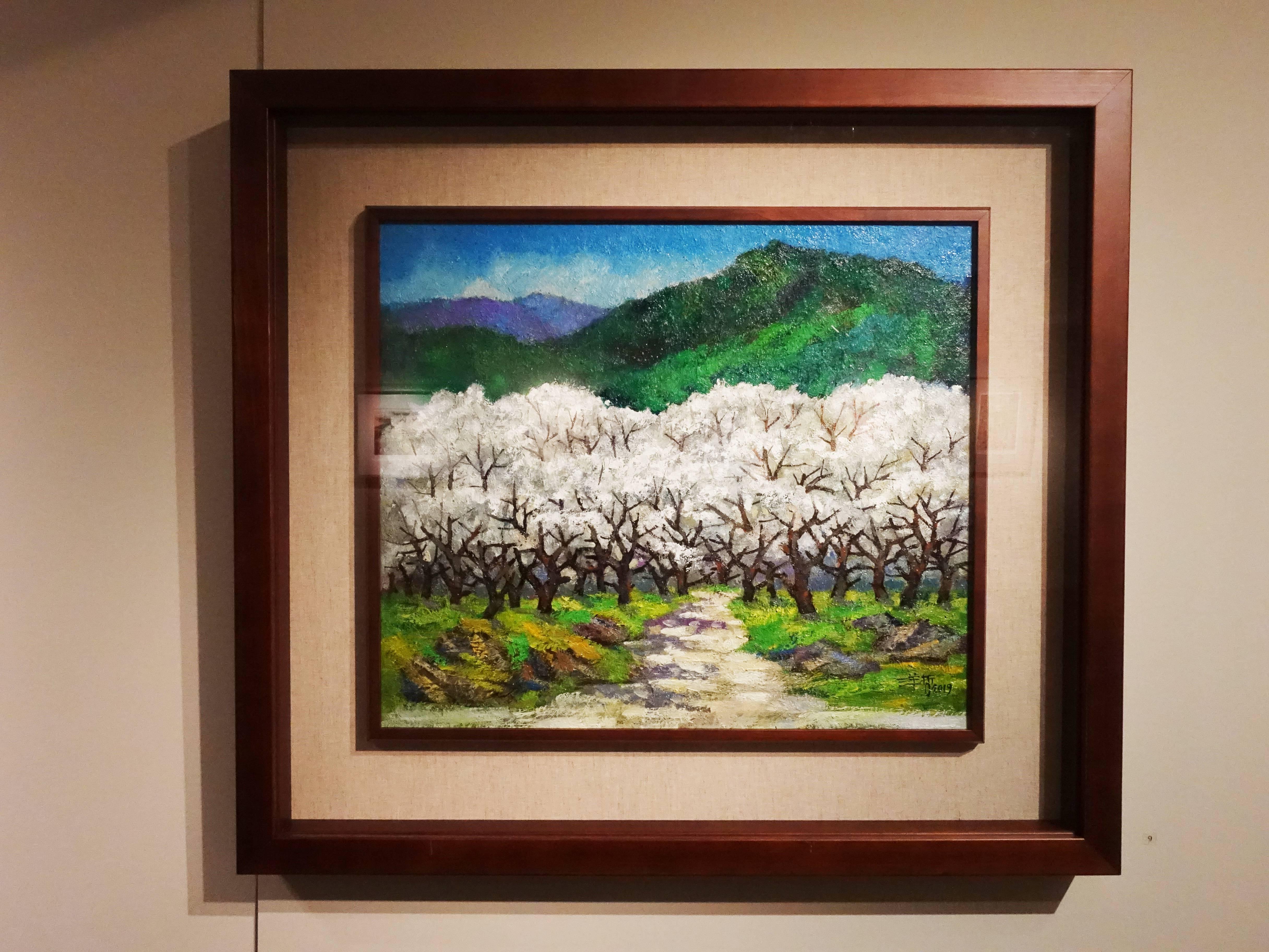 劉洋哲,《風櫃斗梅園》,45.5 x 53 cm,1/1,油彩,2019。