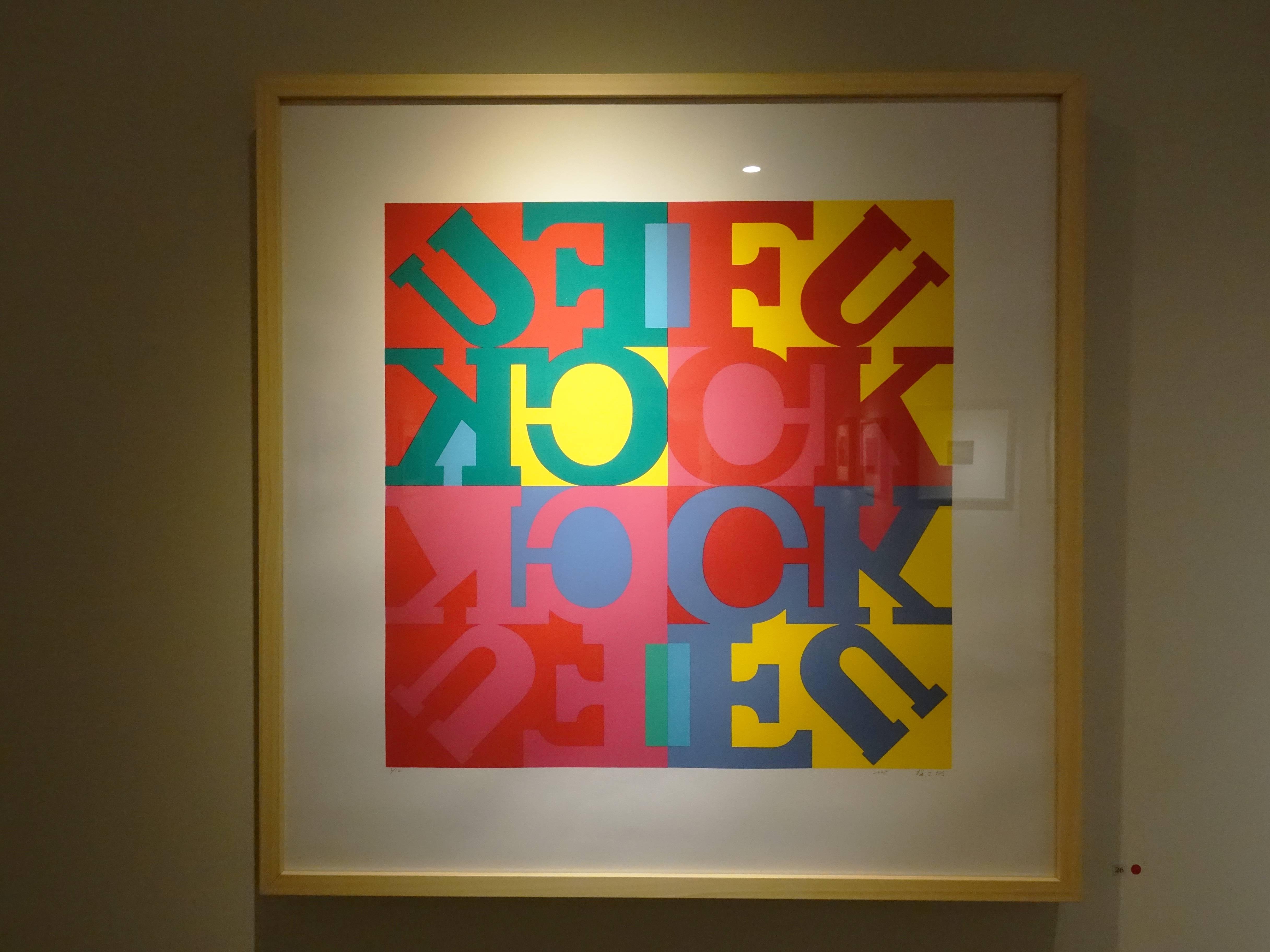 梅丁衍,《發可》,60 x 60 cm,3/12,絹版,2008。
