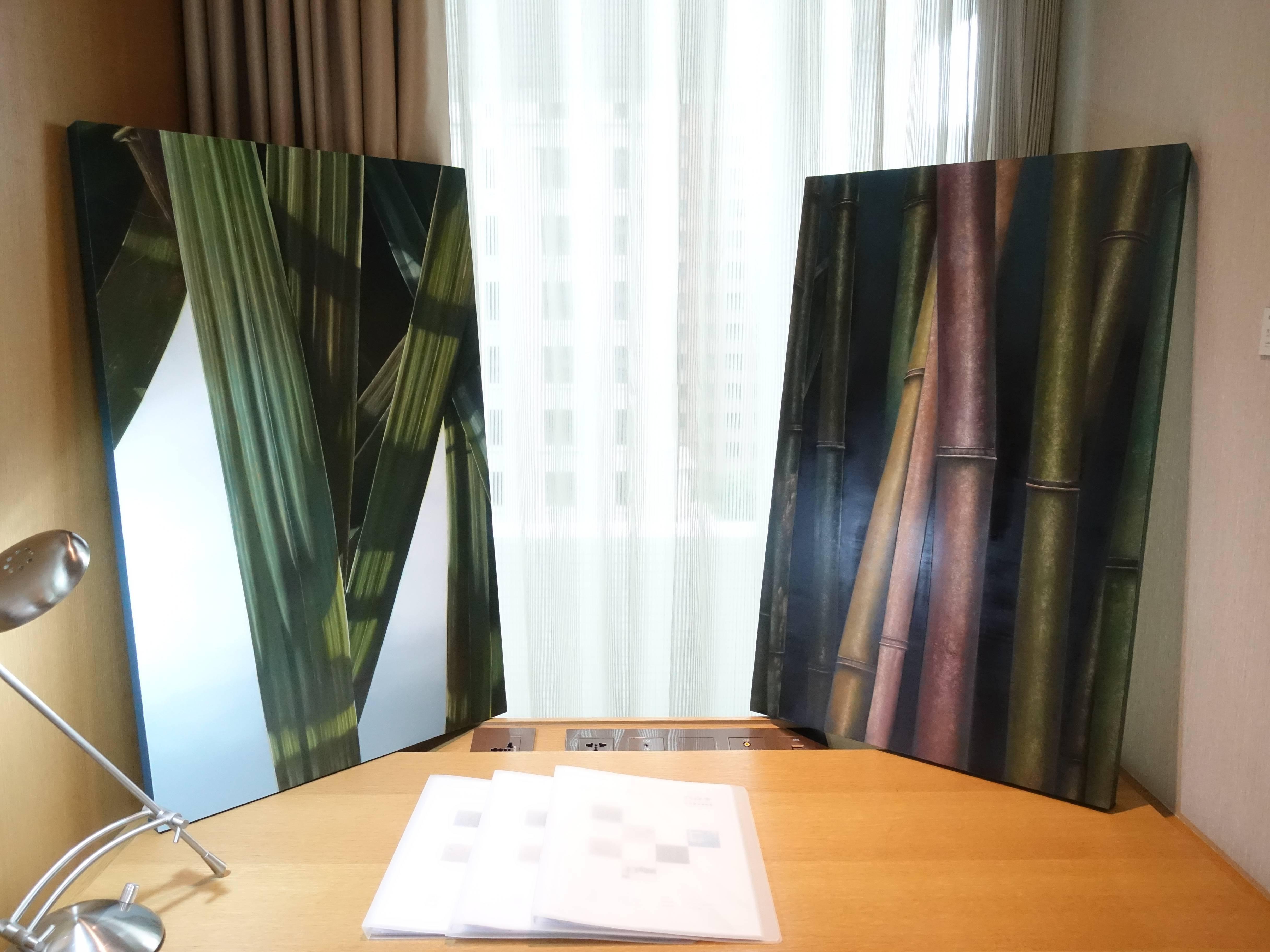 大觀藝術空間藝術家 - 顏群,《座標與形狀-6》,80 x 90 cm,油彩、畫布,2019。