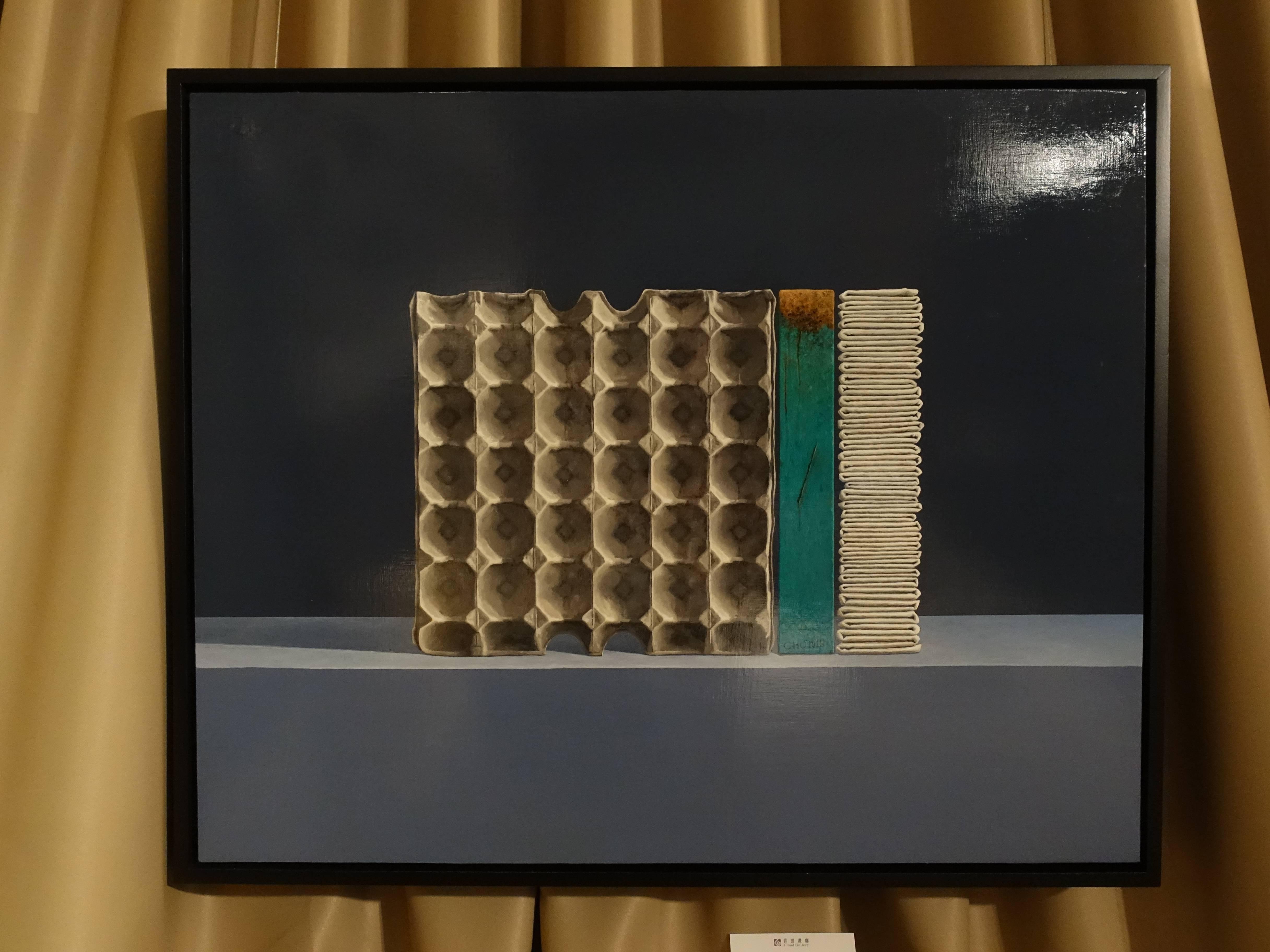 青雲畫廊藝術家 - 陳宏群,《疊構V》,53 x 65 cm,壓克力,2019。
