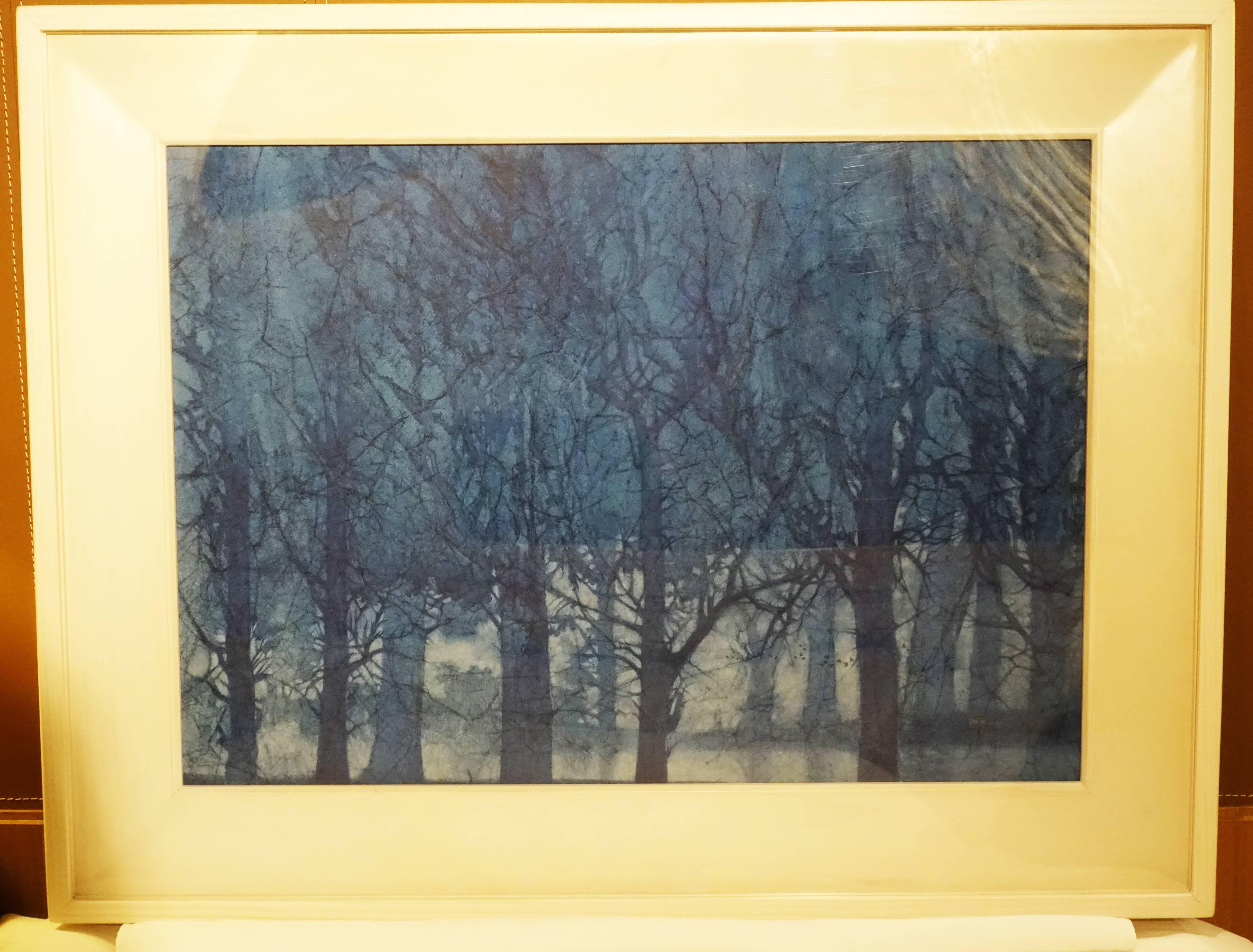 藤藝廊藝術家 - 黃耀華,《燕歸》,53 x 76 cm ,紙本水彩。