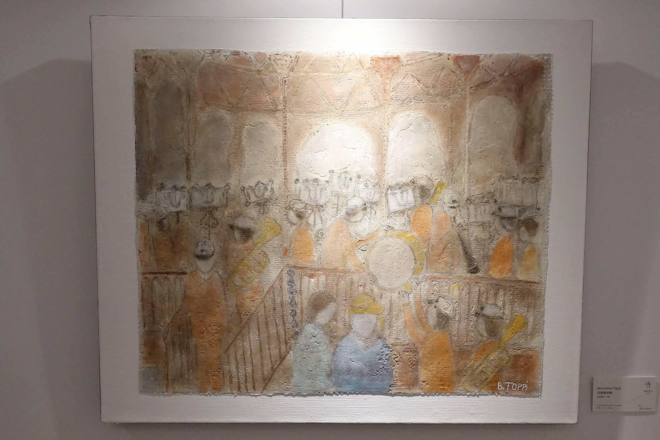 慕光藝術展出藝術家 -  Bernardivo Toppi《音樂會排練》,46 x 54 cm,油彩畫布,2018。
