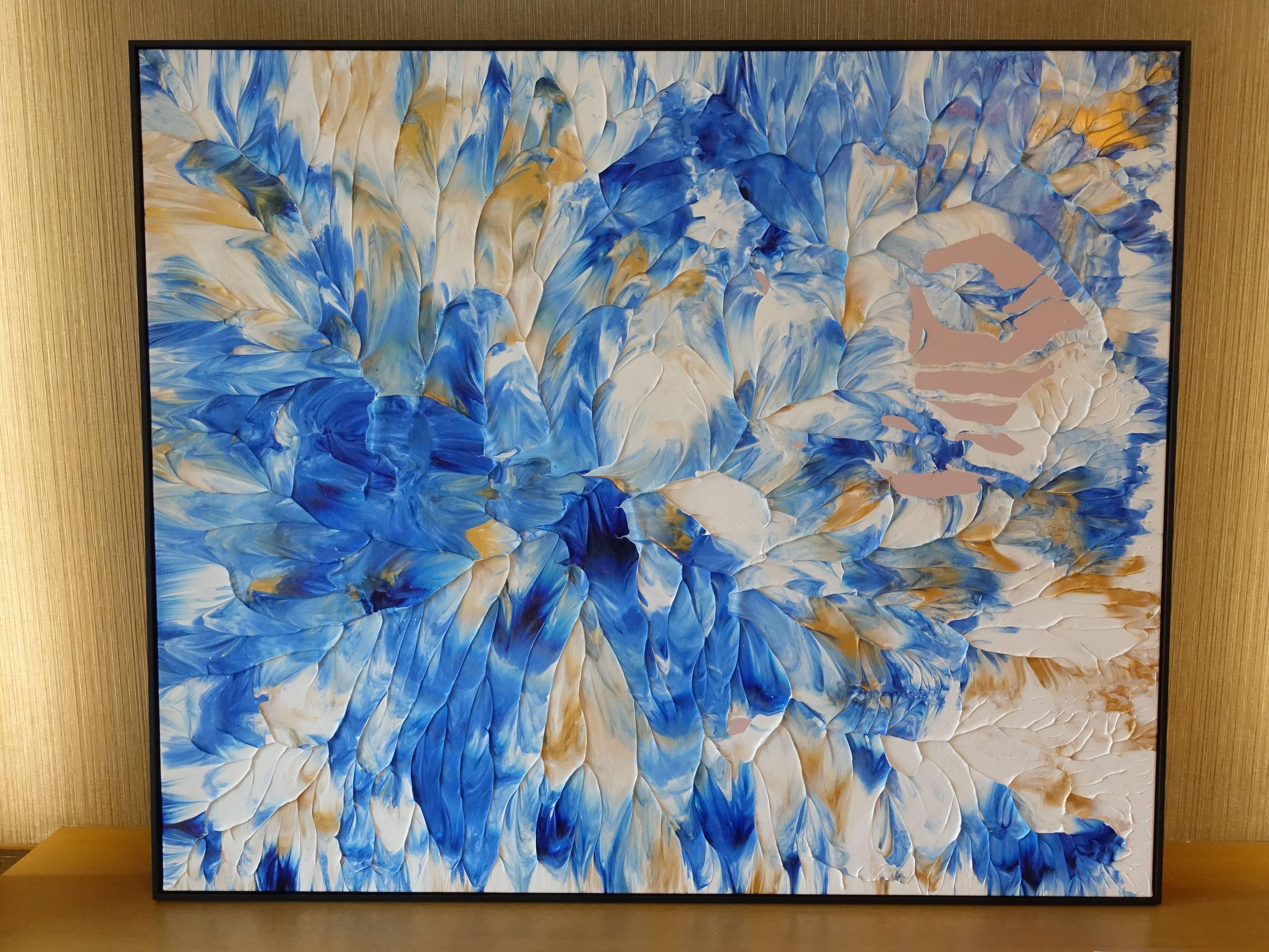 御書房藝術家 - 張子晴,《豔陽60-3》,102 x 122 cm ,丙烯酸樹脂,2019。