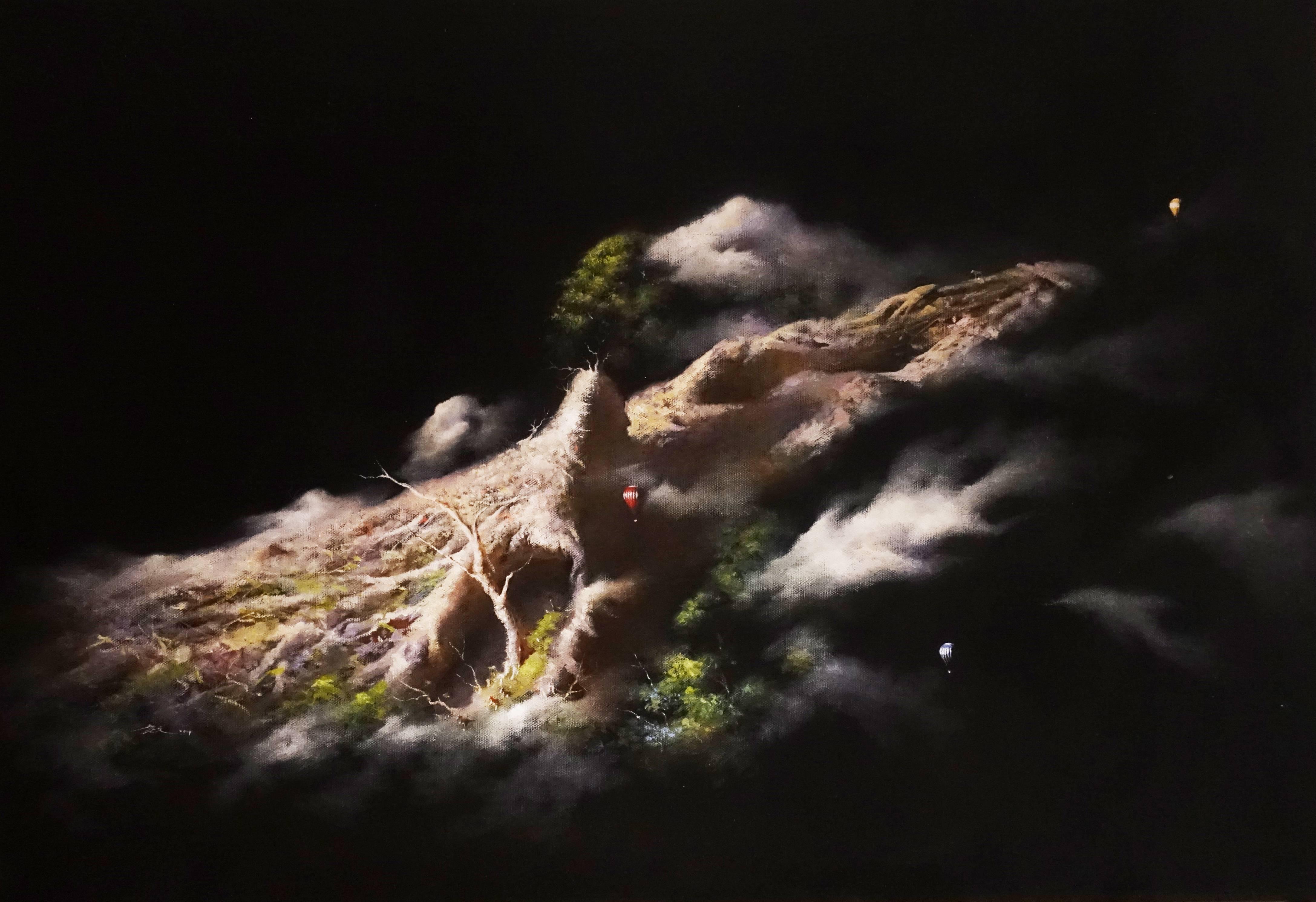 新藝藝術中心藝術家 - 高慶元《旅者系列~出發》,72.5 x 50 cm ,油畫,2019。