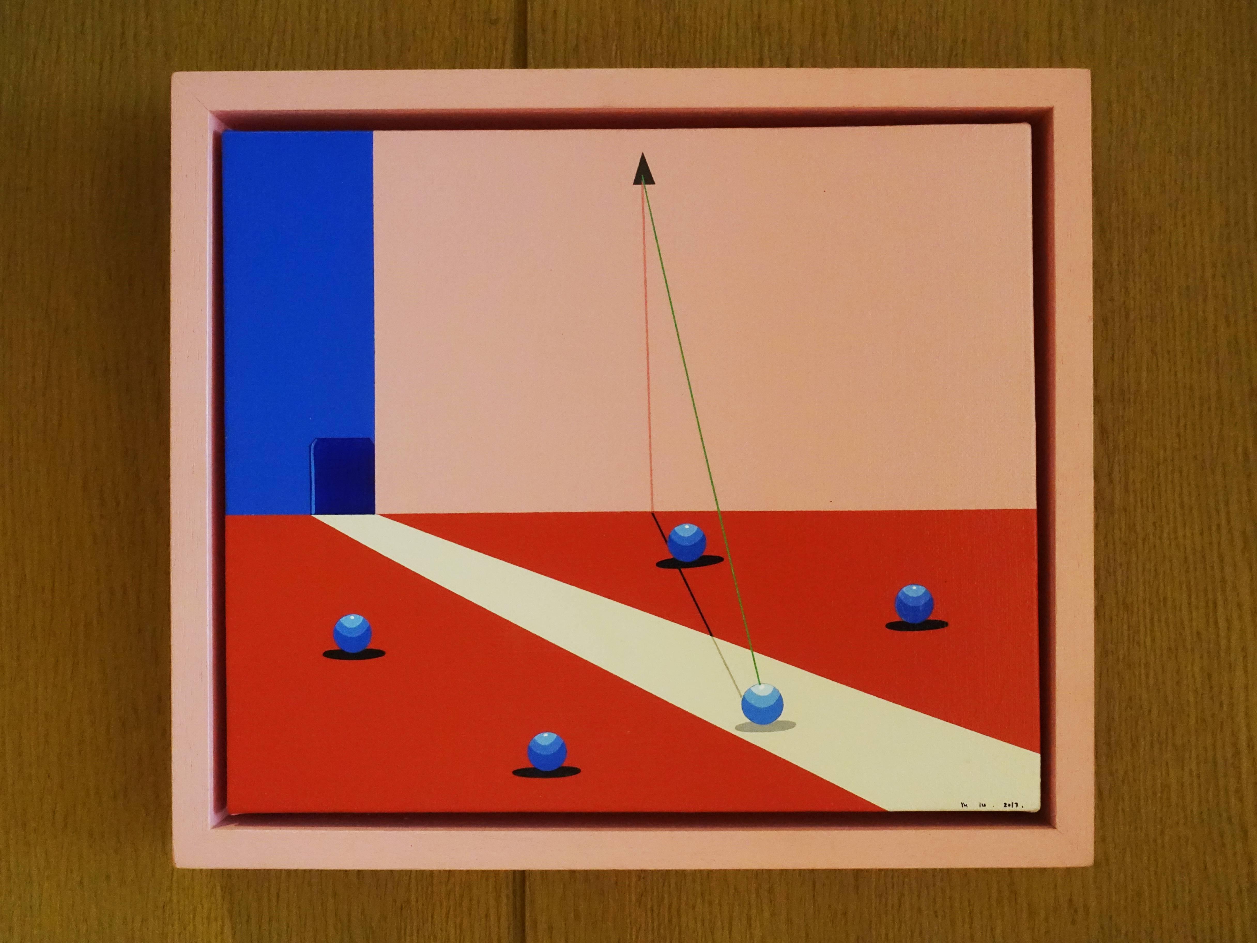 時代畫廊藝術家 -  禹露,《冥想》,25 x 30 cm,丙烯,2017。