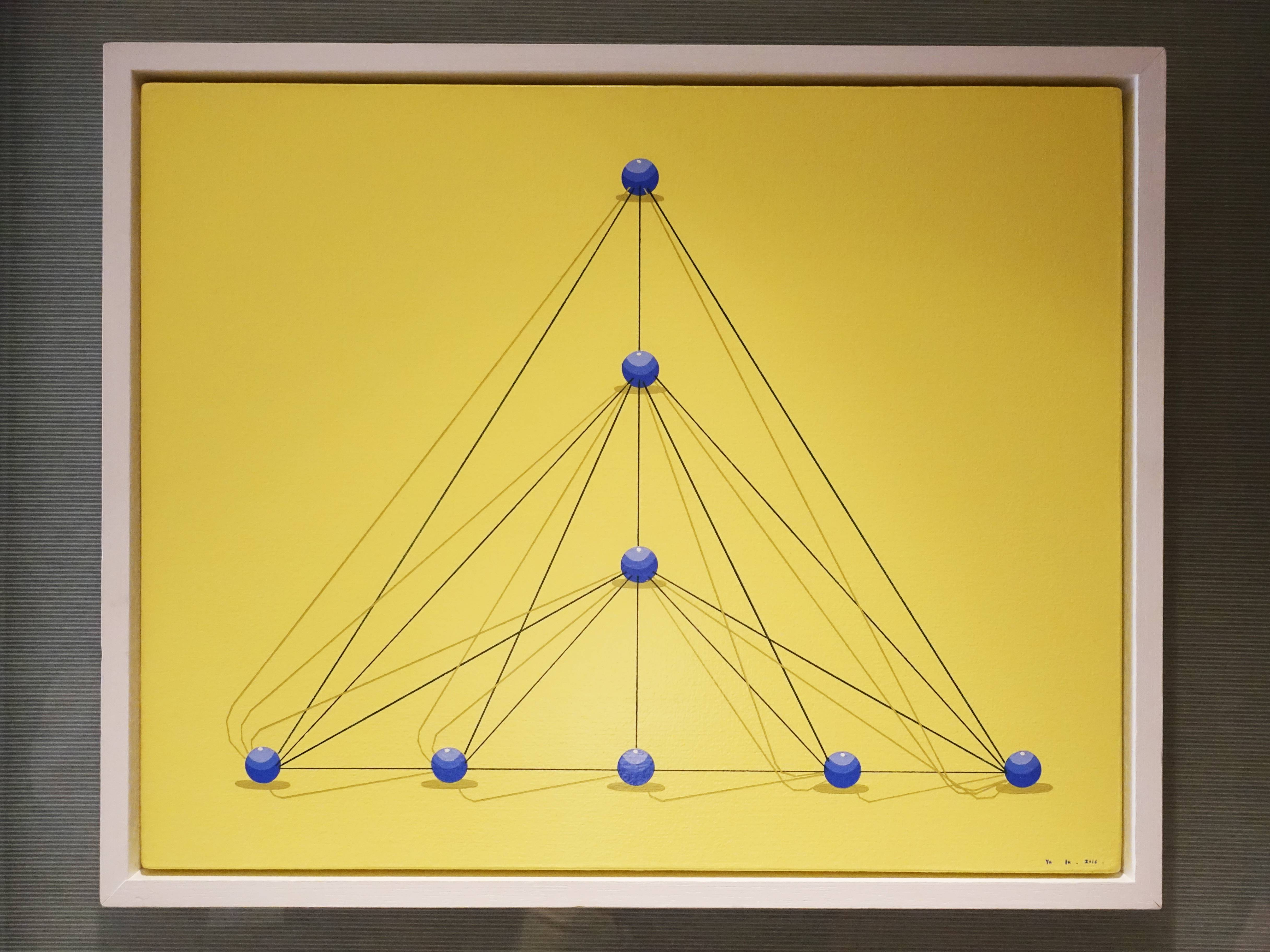 時代畫廊藝術家 - 禹露,《三角形》,40 x 50 cm,丙烯,2016。