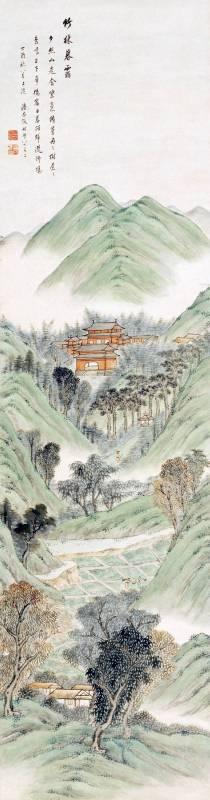 潘思牧 1837 竹林暮靄圖