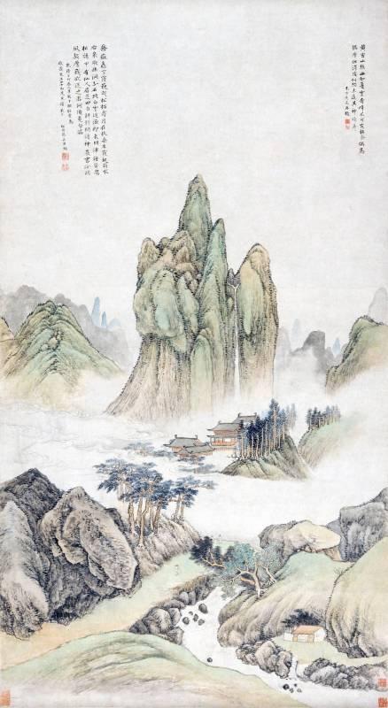 蔡嘉 1747 夏雲奇峰圖