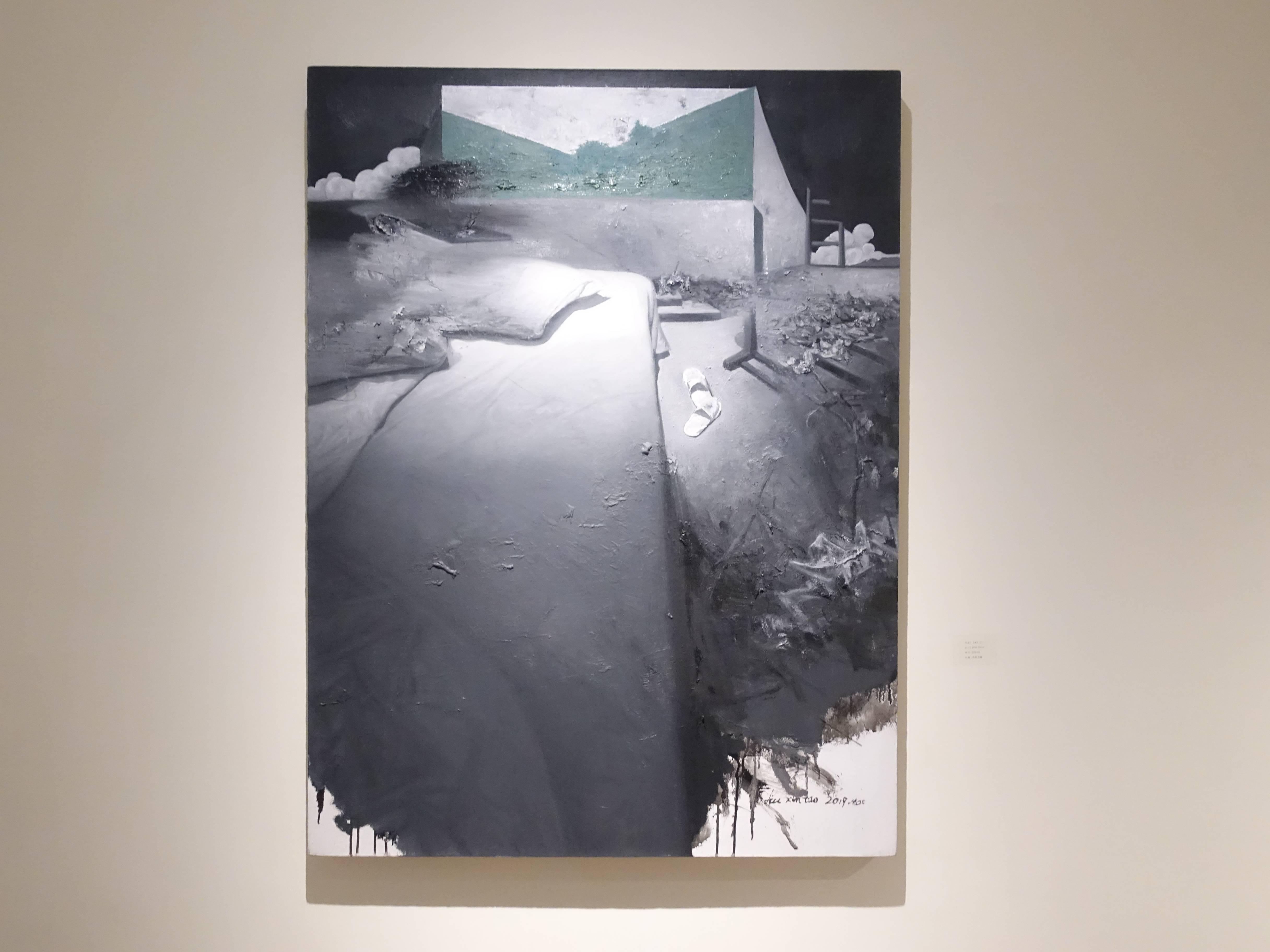 劉芯濤,《無關的風景之六》,90 x 120 cm,布面油畫,2019。