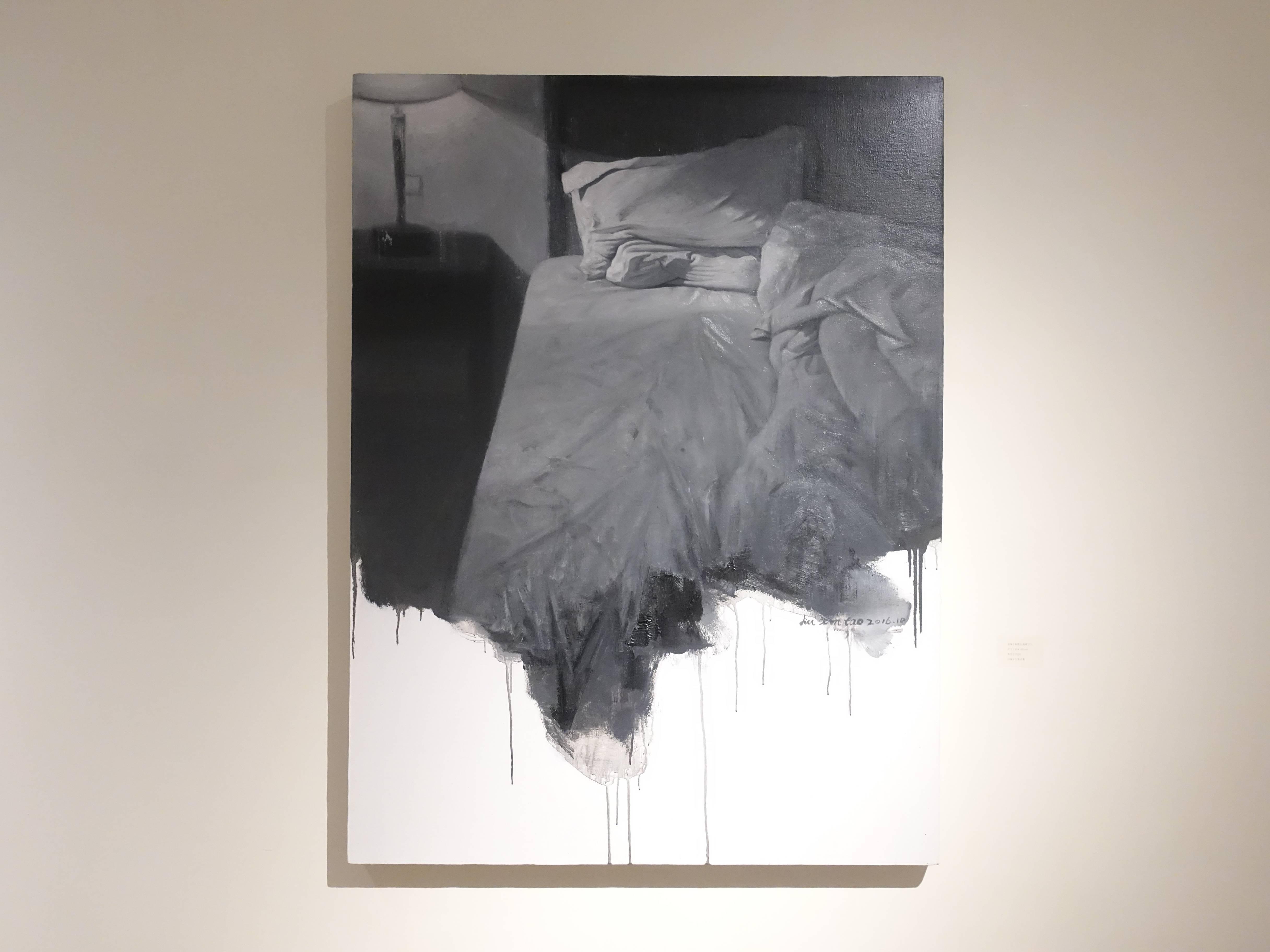 劉芯濤,《床》之一, 90 x 120 cm,布面油畫,2016。