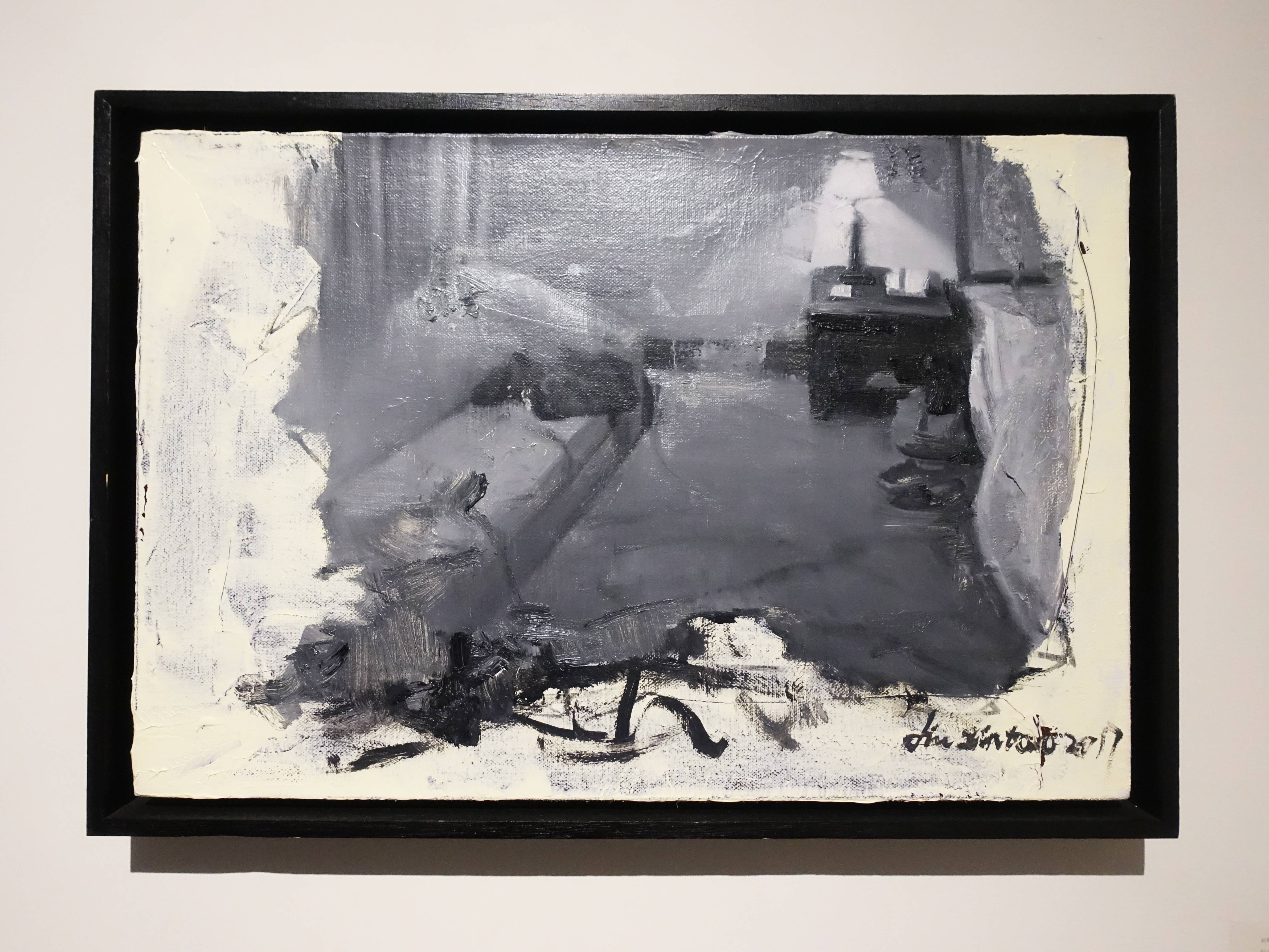劉芯濤,《賓館》,40 x 60 cm,布面油畫,2017。