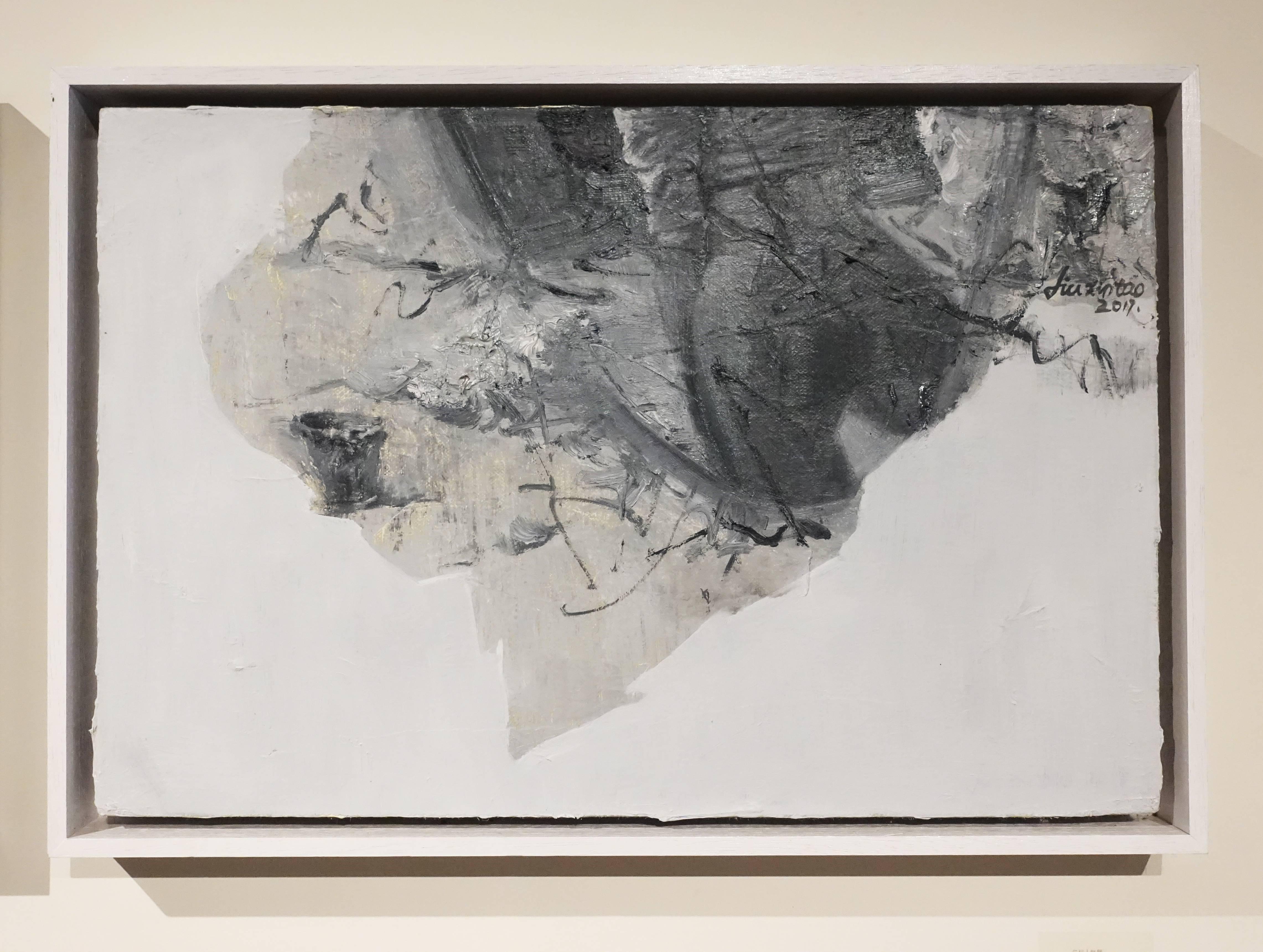 劉芯濤,《無題》,40 x 60 cm,布面油畫,2017。
