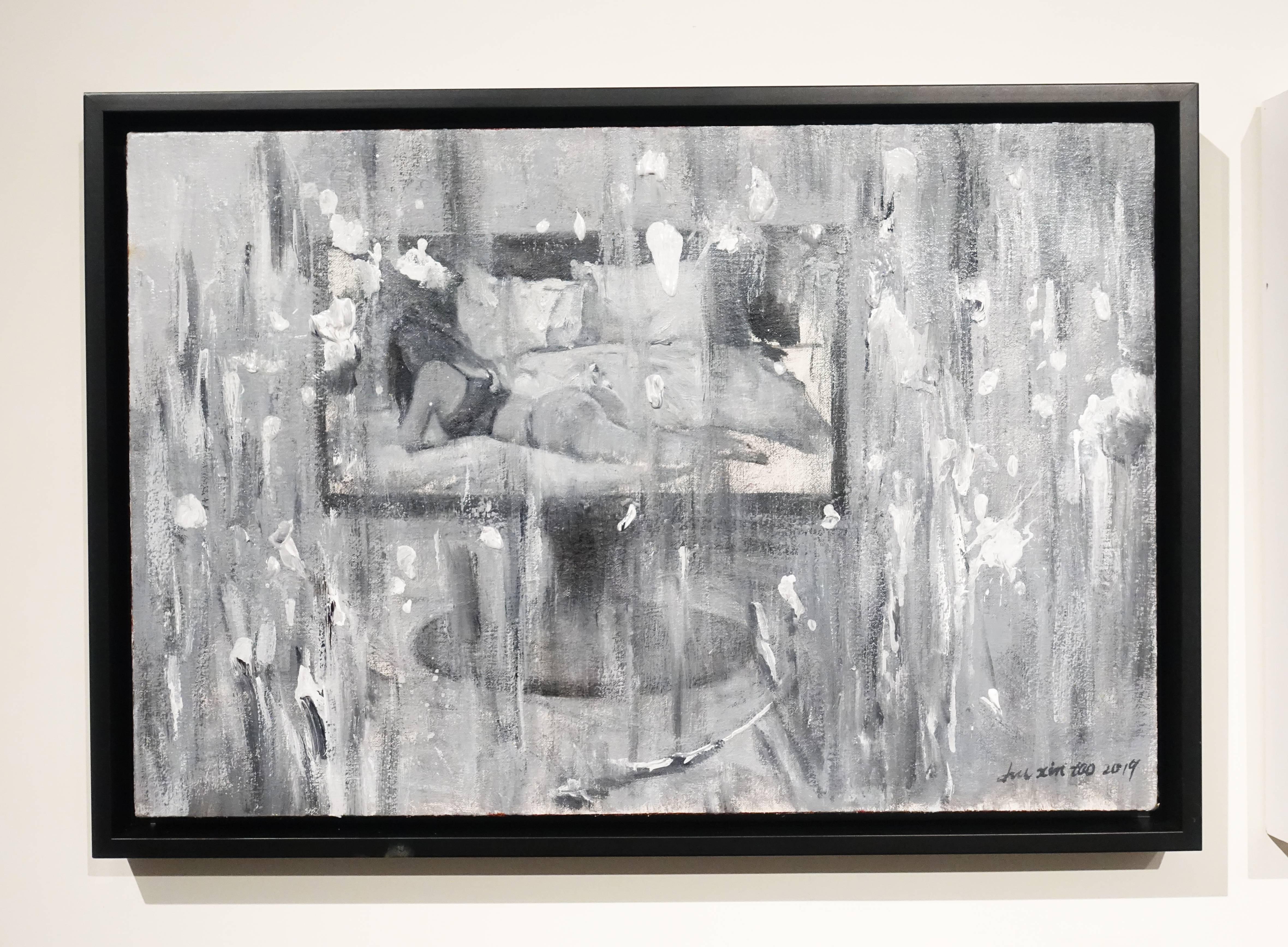 劉芯濤,《星期天》,40 x 60 cm,布面油畫,2019。