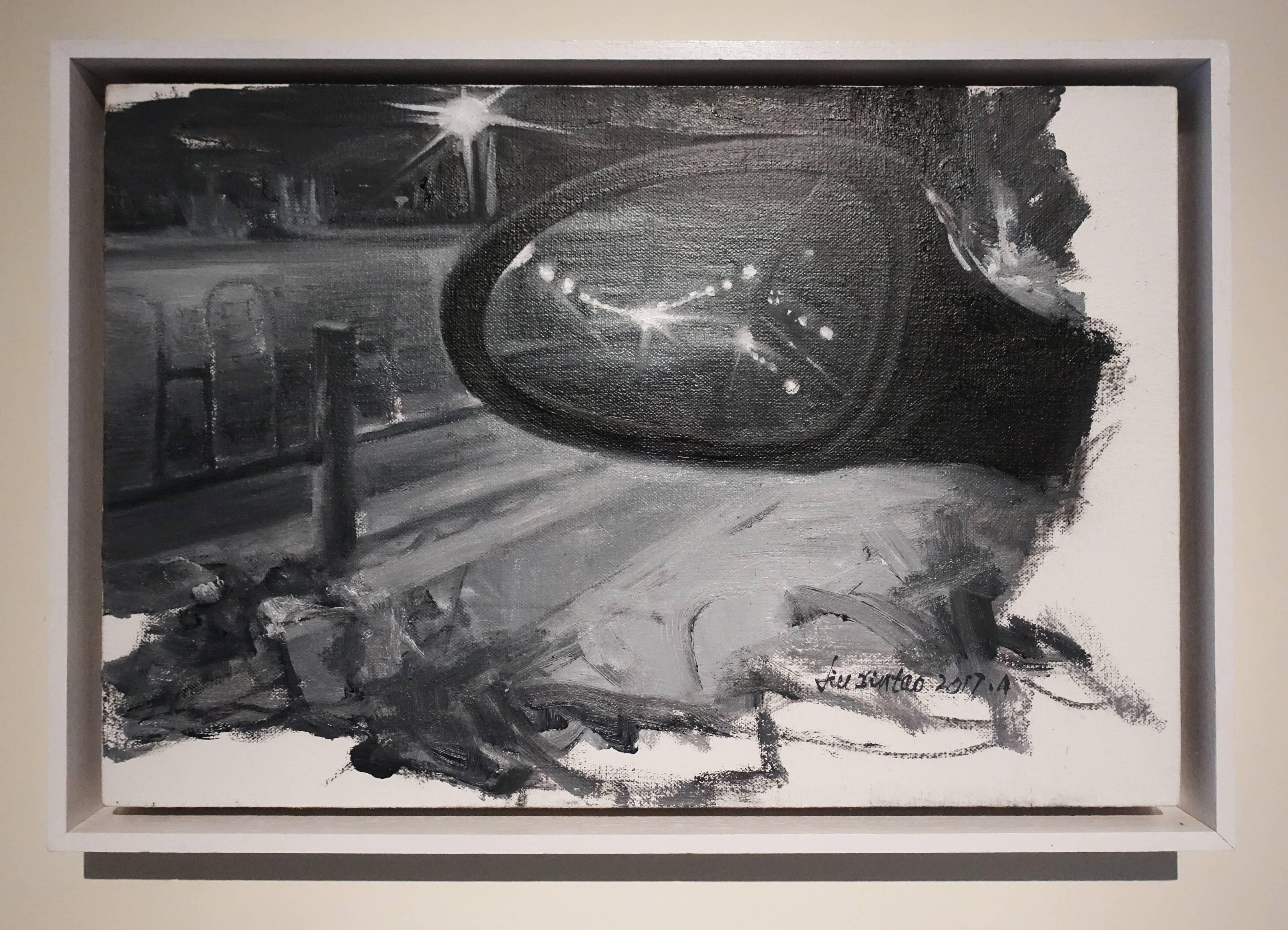 劉芯濤,《香江北路》,40 x 60 cm,布面油畫,2017。