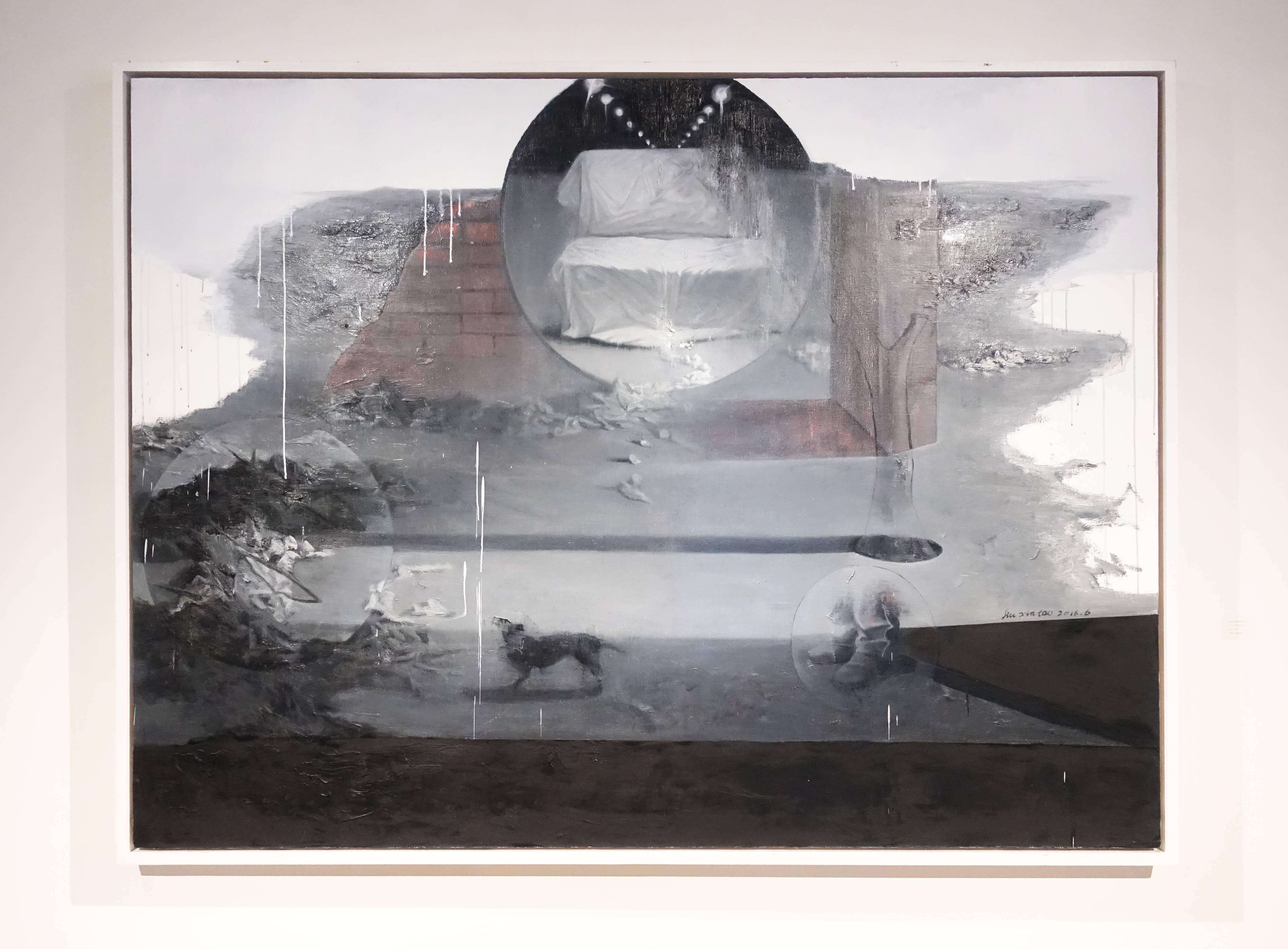 劉芯濤,《無邊的風景之四》, 150 x 200 cm,布面油畫,2016。