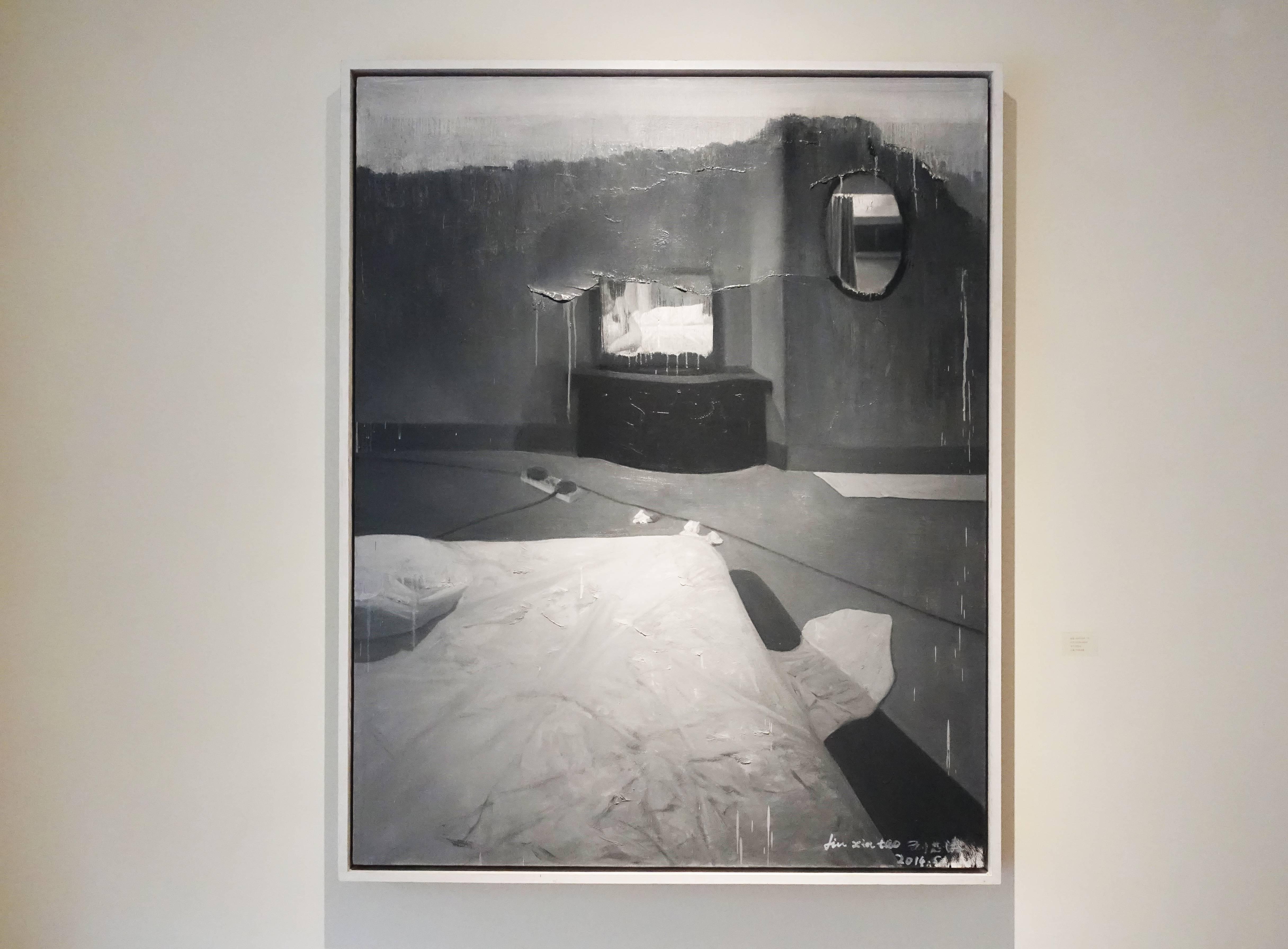 劉芯濤,《房間》,120 x 150 cm,布面油畫,2014。