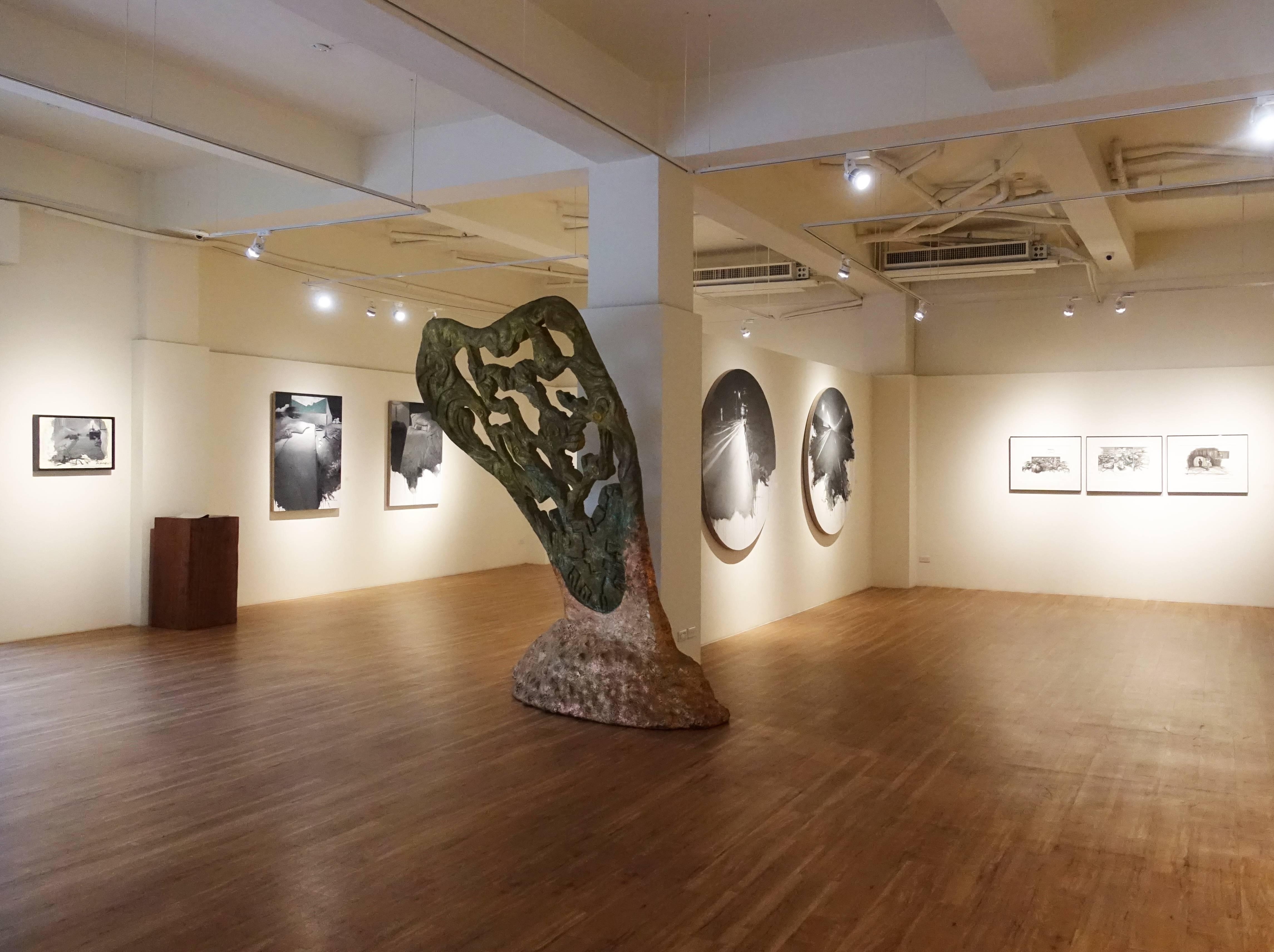 甘樂阿舍美術館劉芯濤個展《盜夢者》展覽空間。