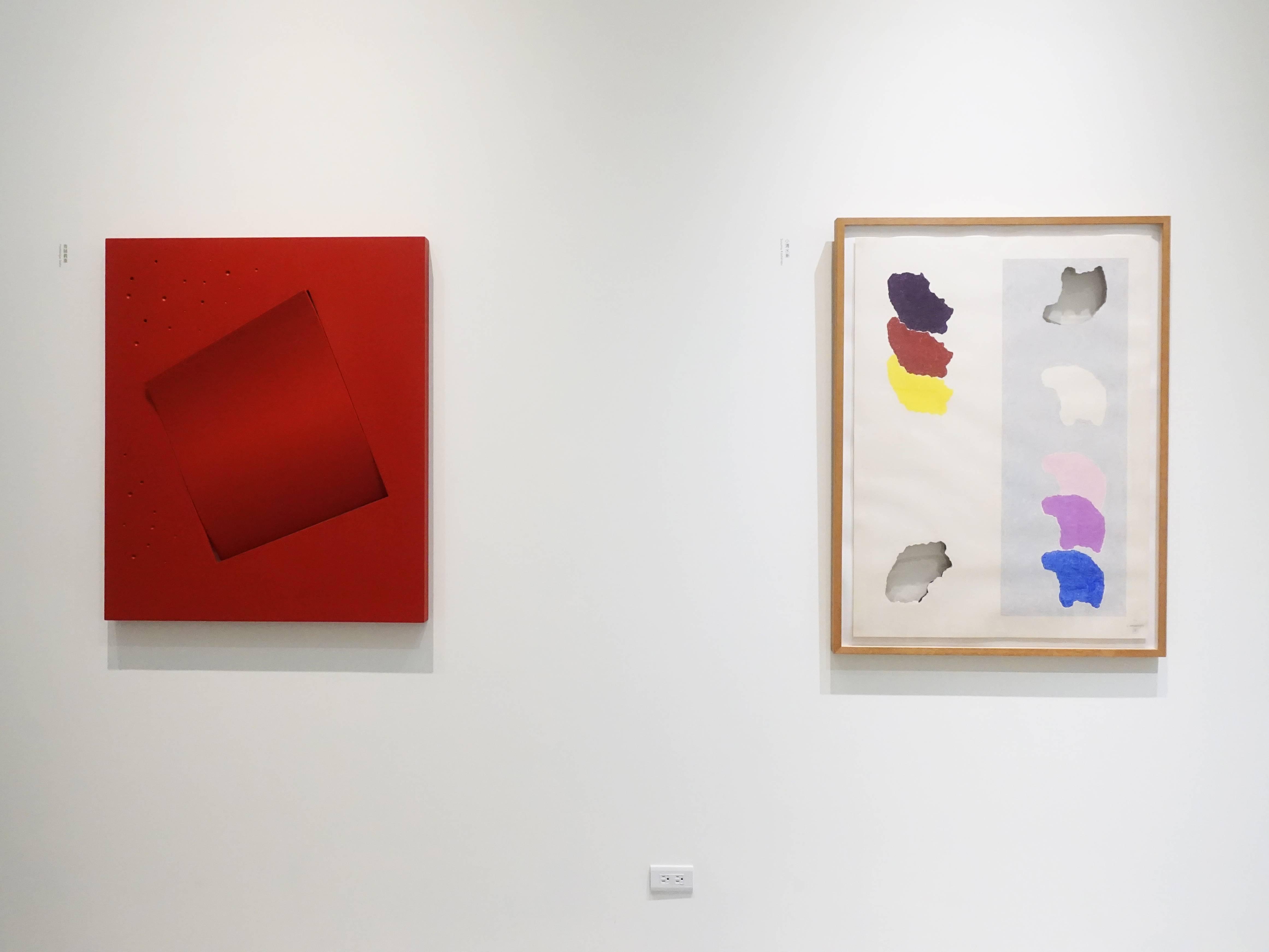 斎藤義重與小清水漸展覽作品。