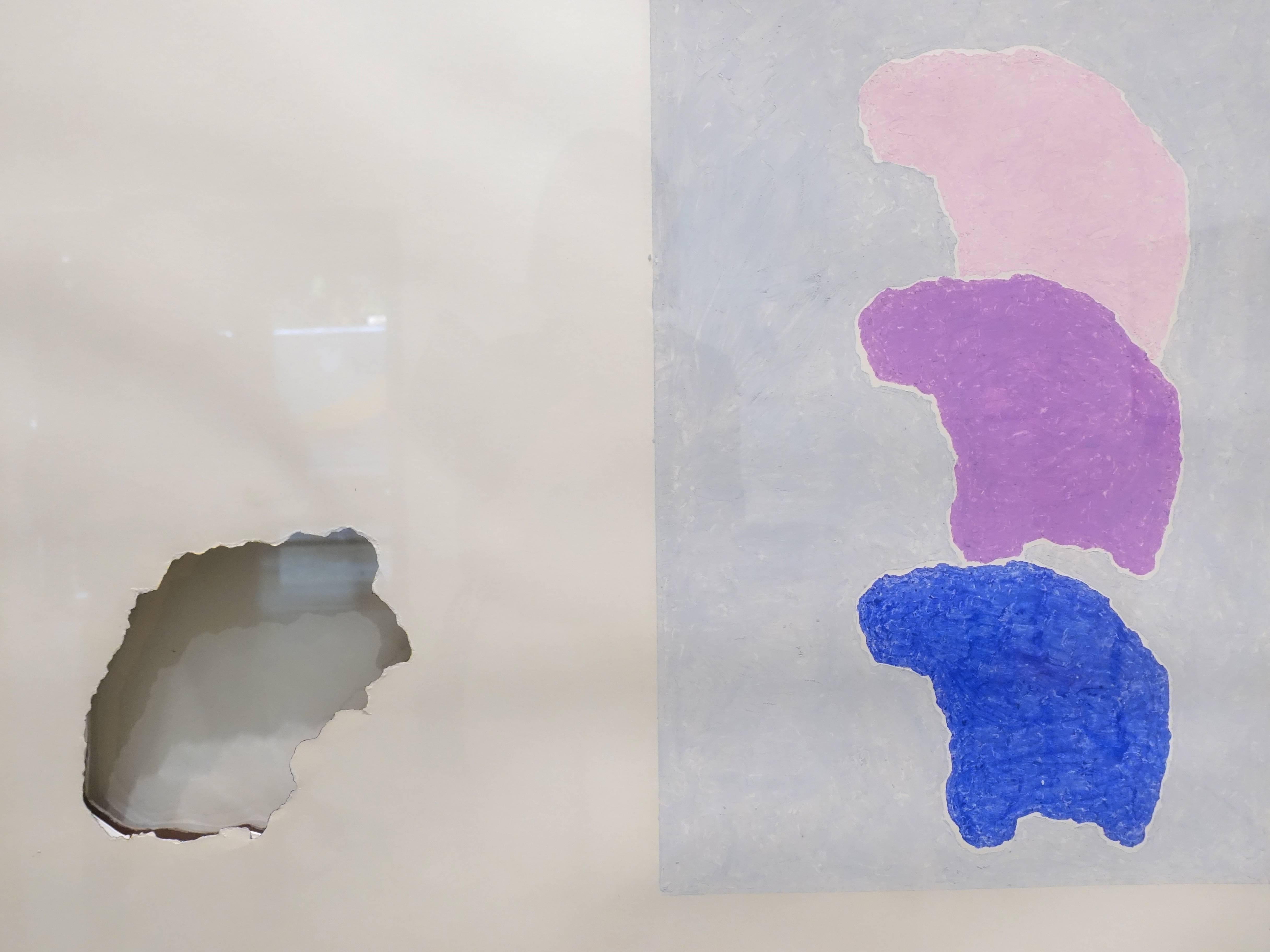 小清水漸,《From Surface to Surface ; crayon drawing》細節,109.6 x 79.4 cm,Pencil、paper,1976。