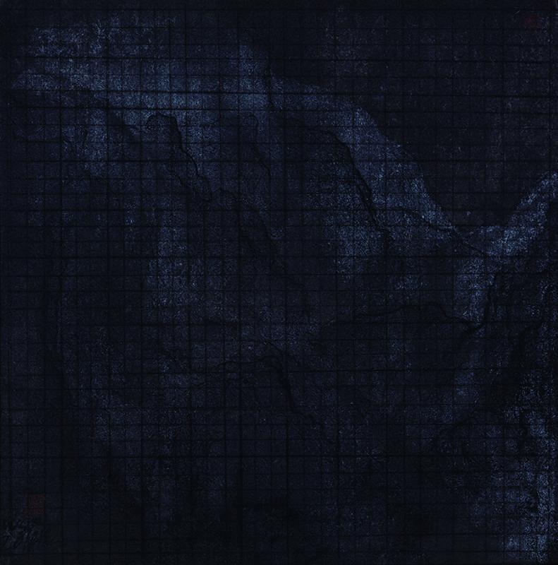 王紹強 Wang Shaoqiang 戌時九川之七 Twilight River 07紙本水墨 Ink on paper35x35cm2018
