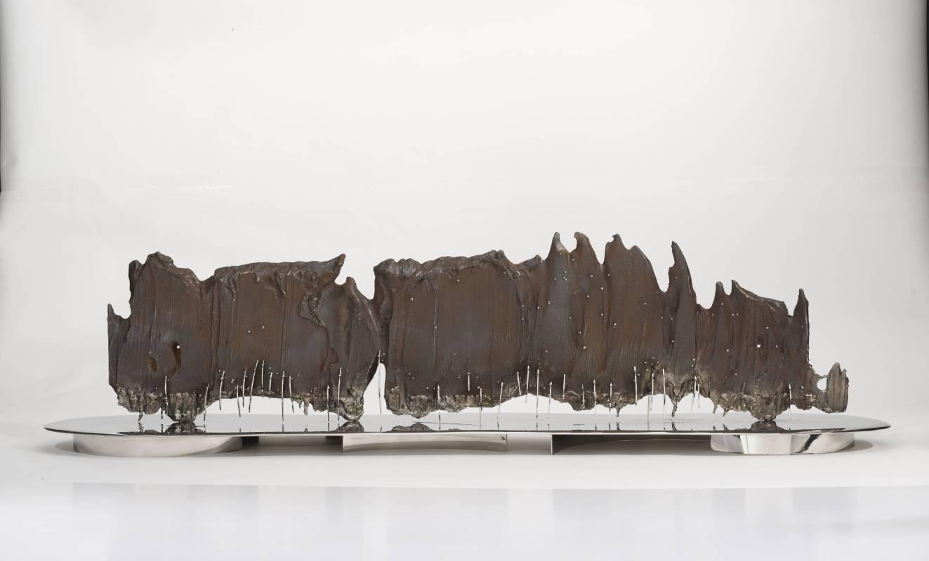 宋璽德 Sung Hsite 山水2018 Landscape 2018鋼、不鏽鋼 Steel, stainless steel126x24x32cm2018