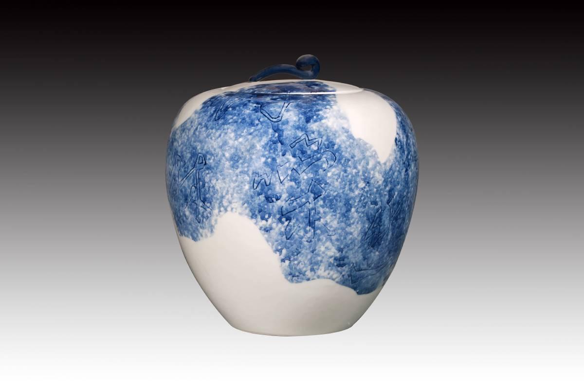 陳強  《書韵瓷緣系列(一)》 2017  20×22公分
