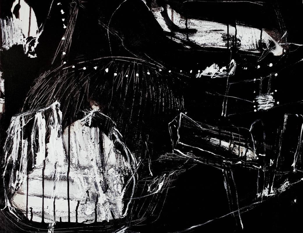 趙璐嘉_Scenery series 2019-1140_複合媒材於畫布(壓克力打底劑,壓克力顏料,墨汁,水性漆,鉛筆)76x60 cm_2019