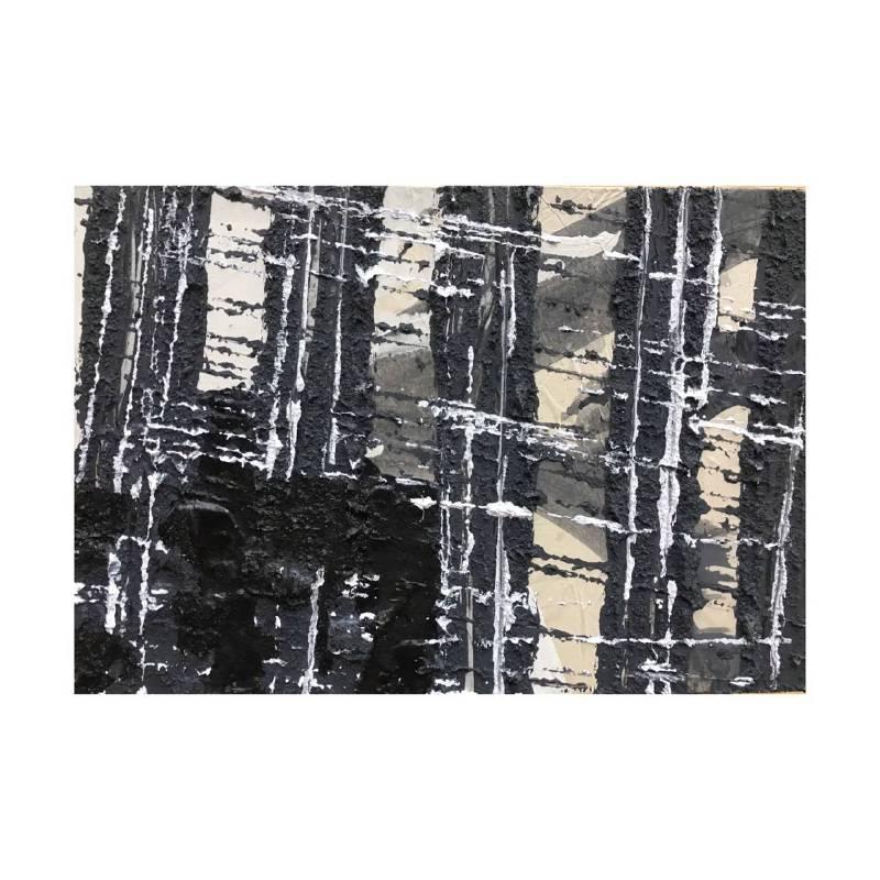 趙璐嘉_景系列-建築工地-4複合媒材於木板上16x23x3 cm2018