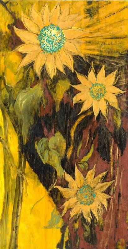 向陽, 油彩、畫布, 192x100cm (120M), 2001