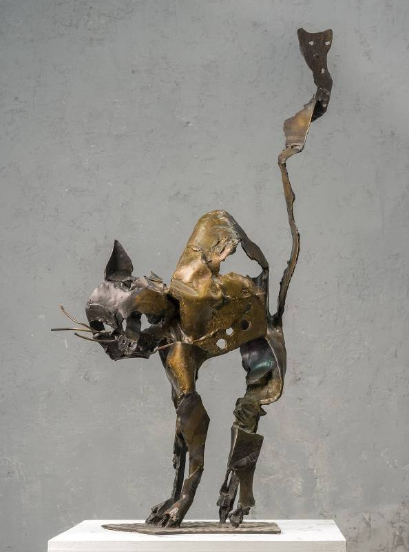 李光裕 LEE Kuang Yu|響尾 Swishing Tail|2019|銅 Bronze|30x62x103cm