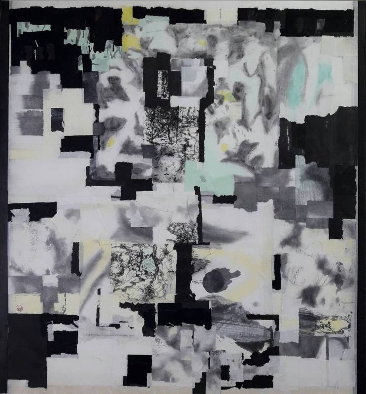 日夜時空 2019-6 水墨複合媒材  84x80cm