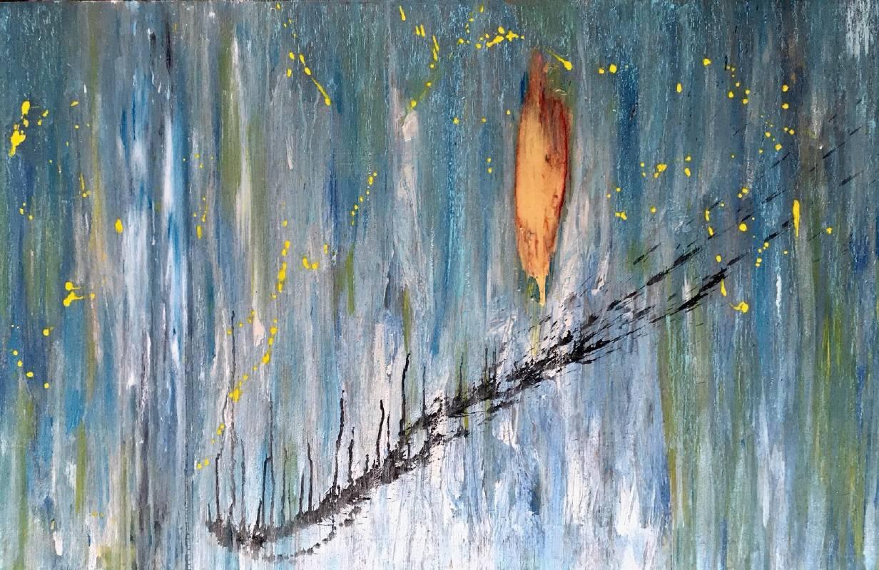 65x95cm | 壓克力、礦彩、木板 | 畫題 : 小星星