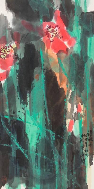 《濯秋水 》, 69 x 35 cm