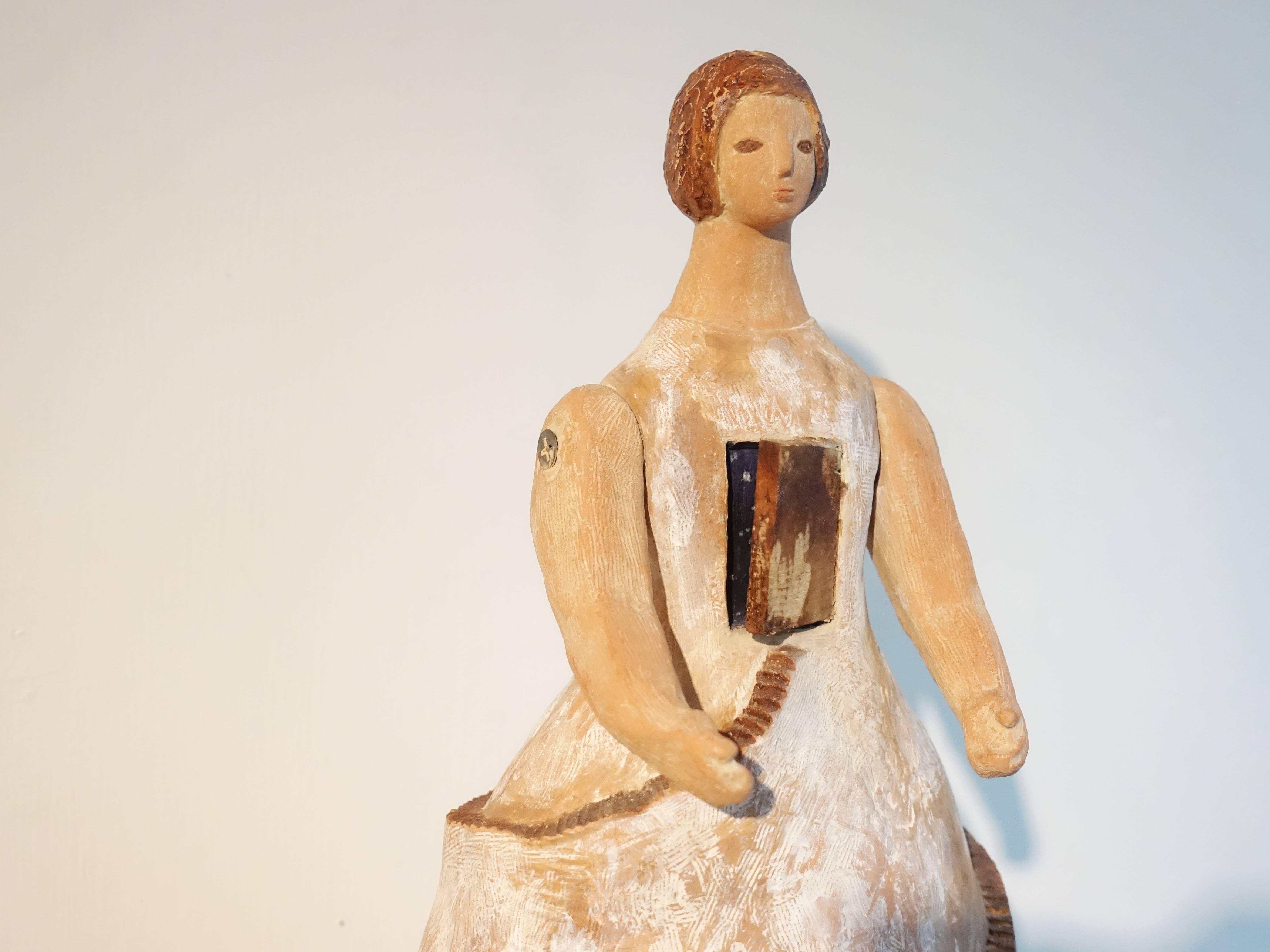 林怡芬,《通往原鄉的路》細節,30 x 20 x 15 cm,Terra cotta、礦物質顏料,2019。