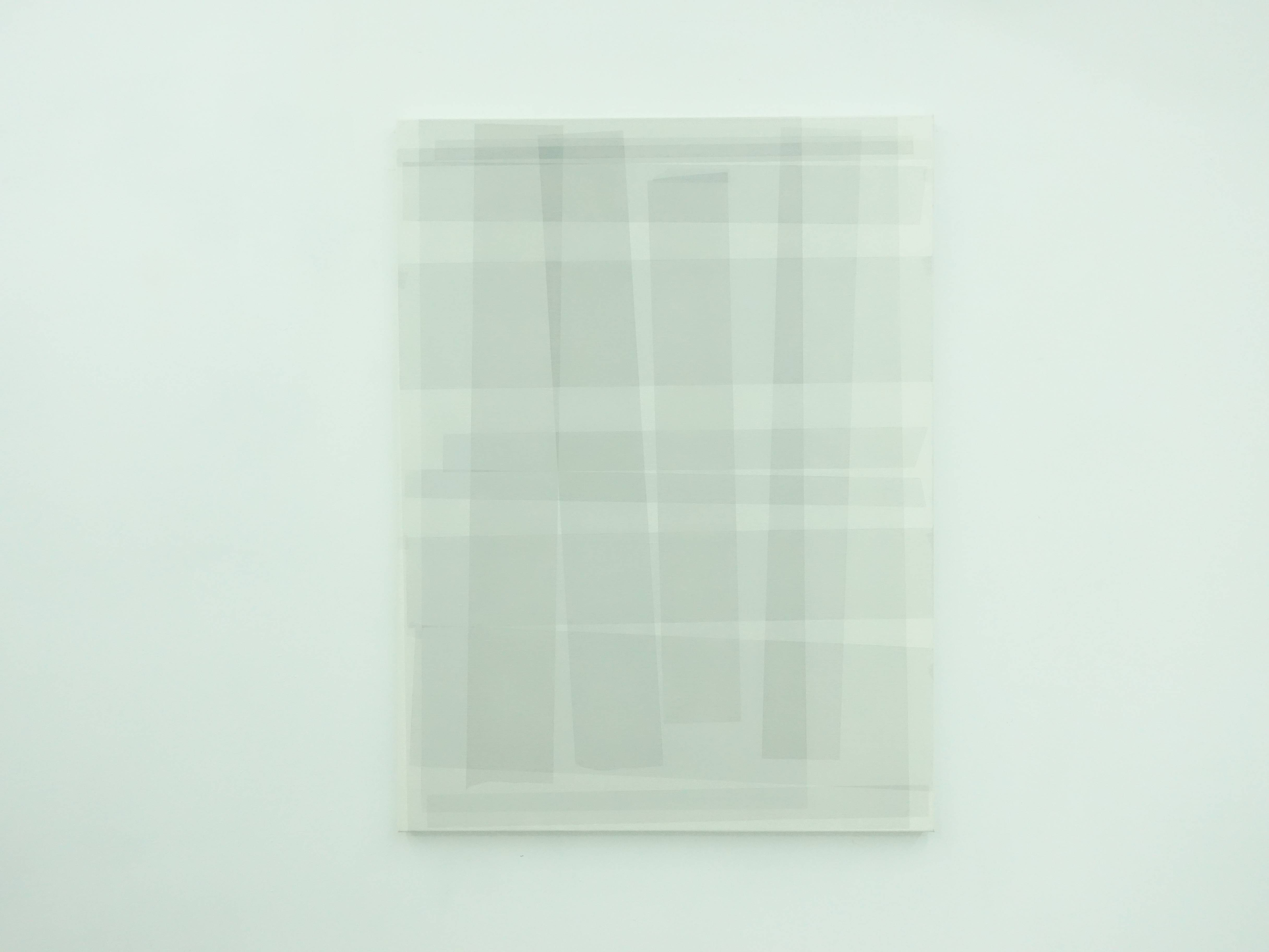 Kees Goudzwaard,《Transparent on white透徹於白之上》,Oil on canvas,100 x 75 cm,2019。