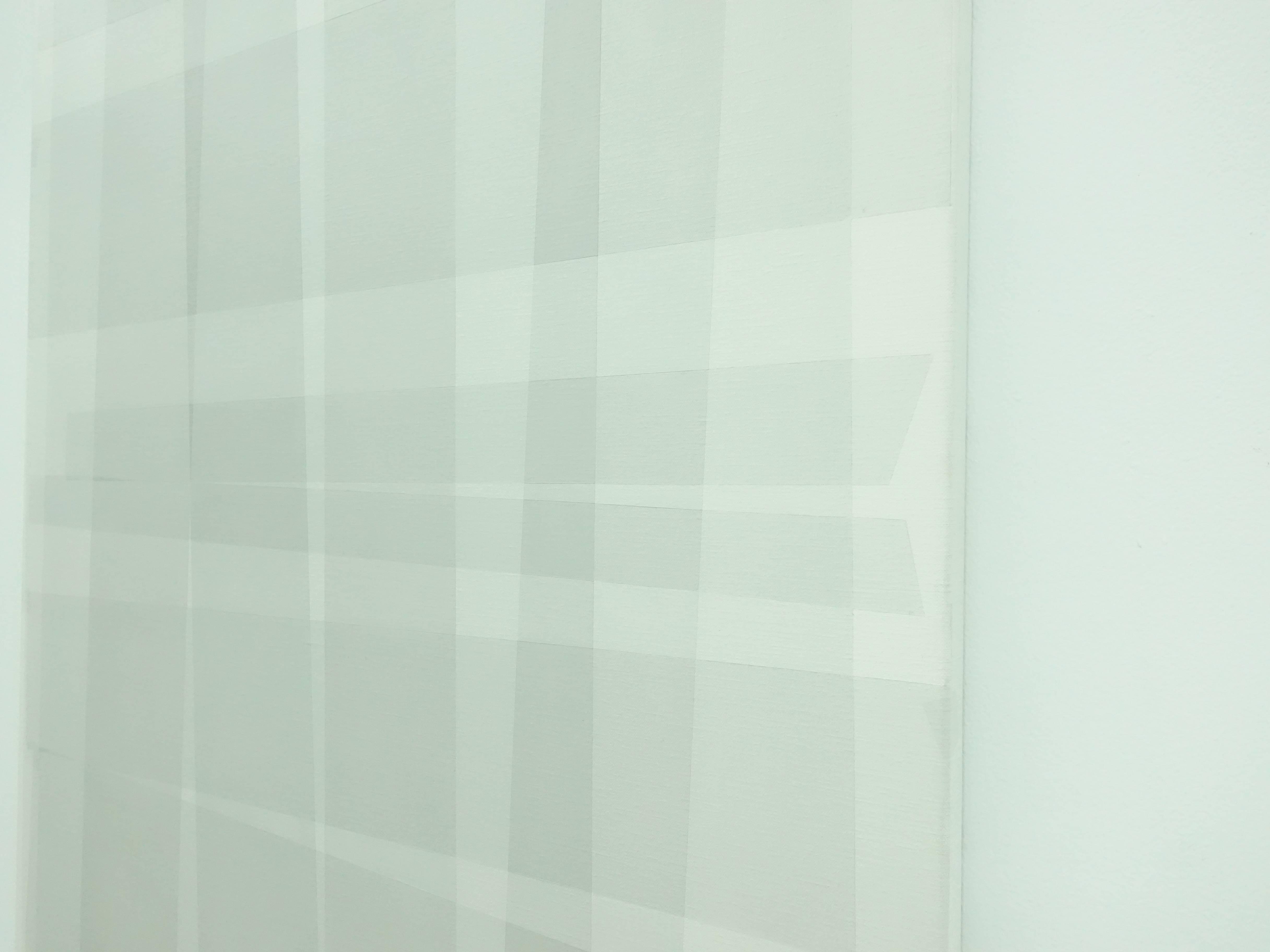 Kees Goudzwaard,《Transparent on white透徹於白之上》細節,Oil on canvas,100 x 75 cm,2019。