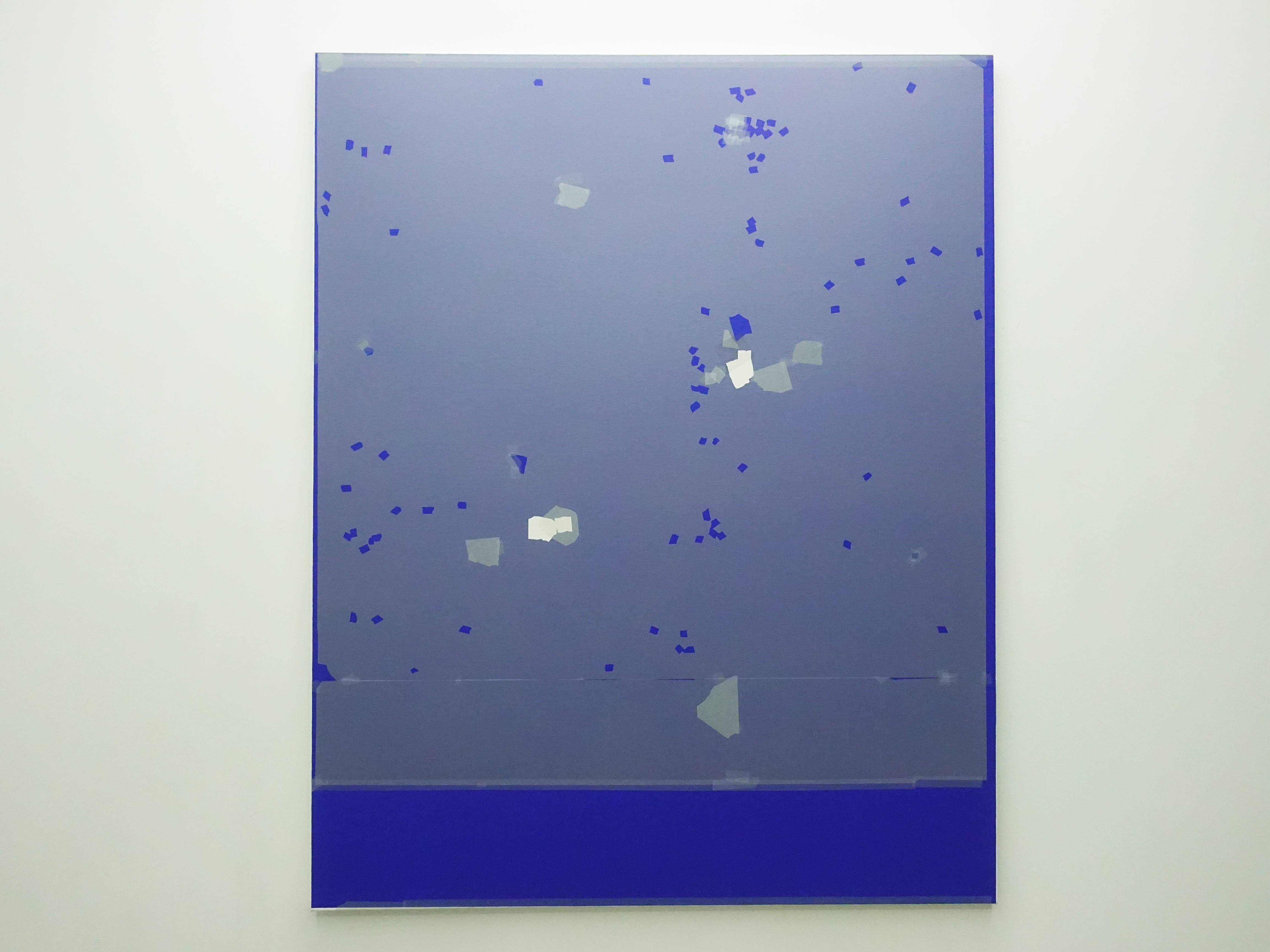 Kees Goudzwaard,《Fragments And Holes碎片與空隙》,Oil on canvas,140 x 110 cm,2019。