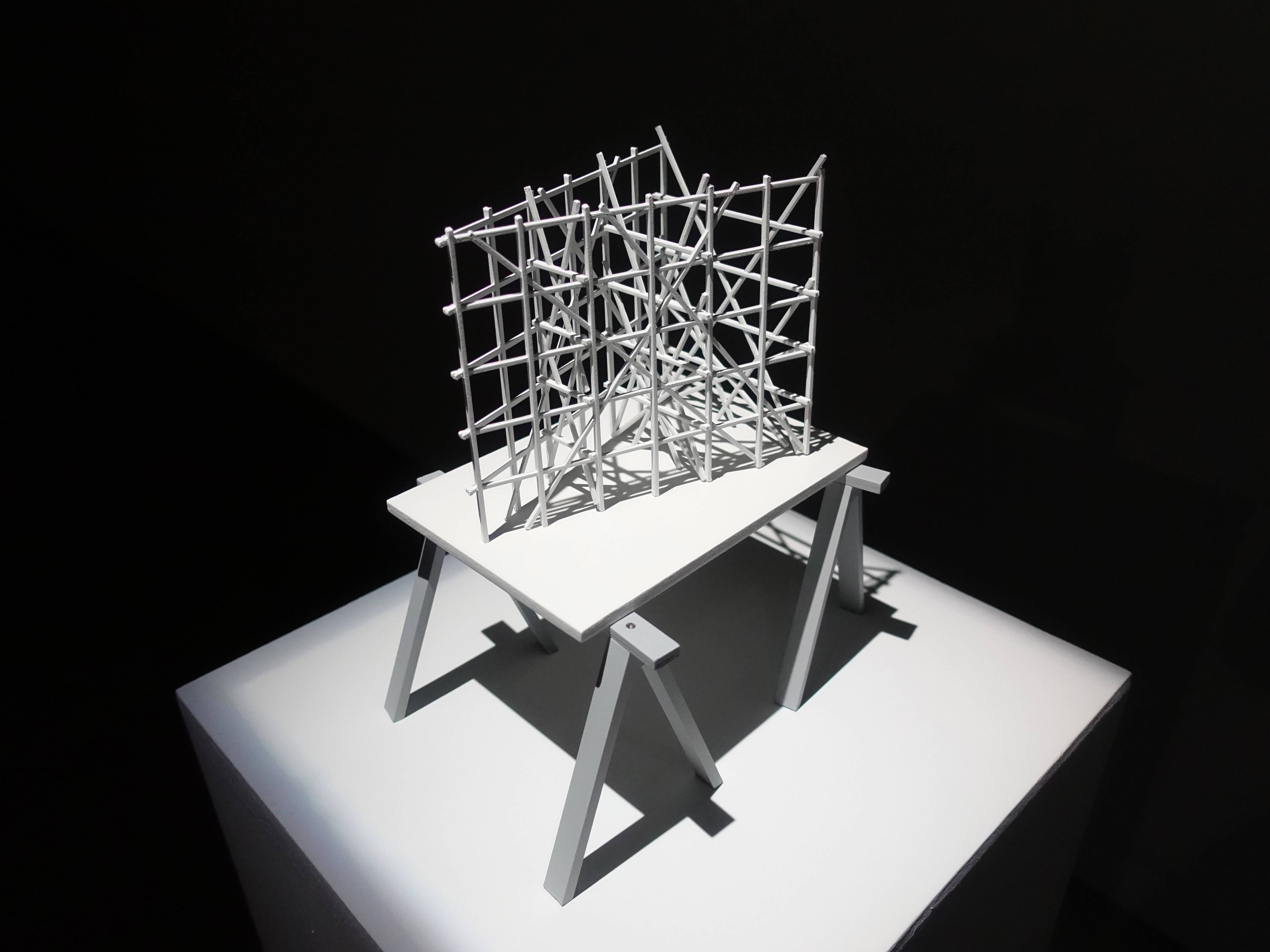 Florian Claar,《Table ll Fratres 桌ll弗哈特爾》,27.5 x 23 x 19 cm,PLA、wood PLA、木頭,2019。