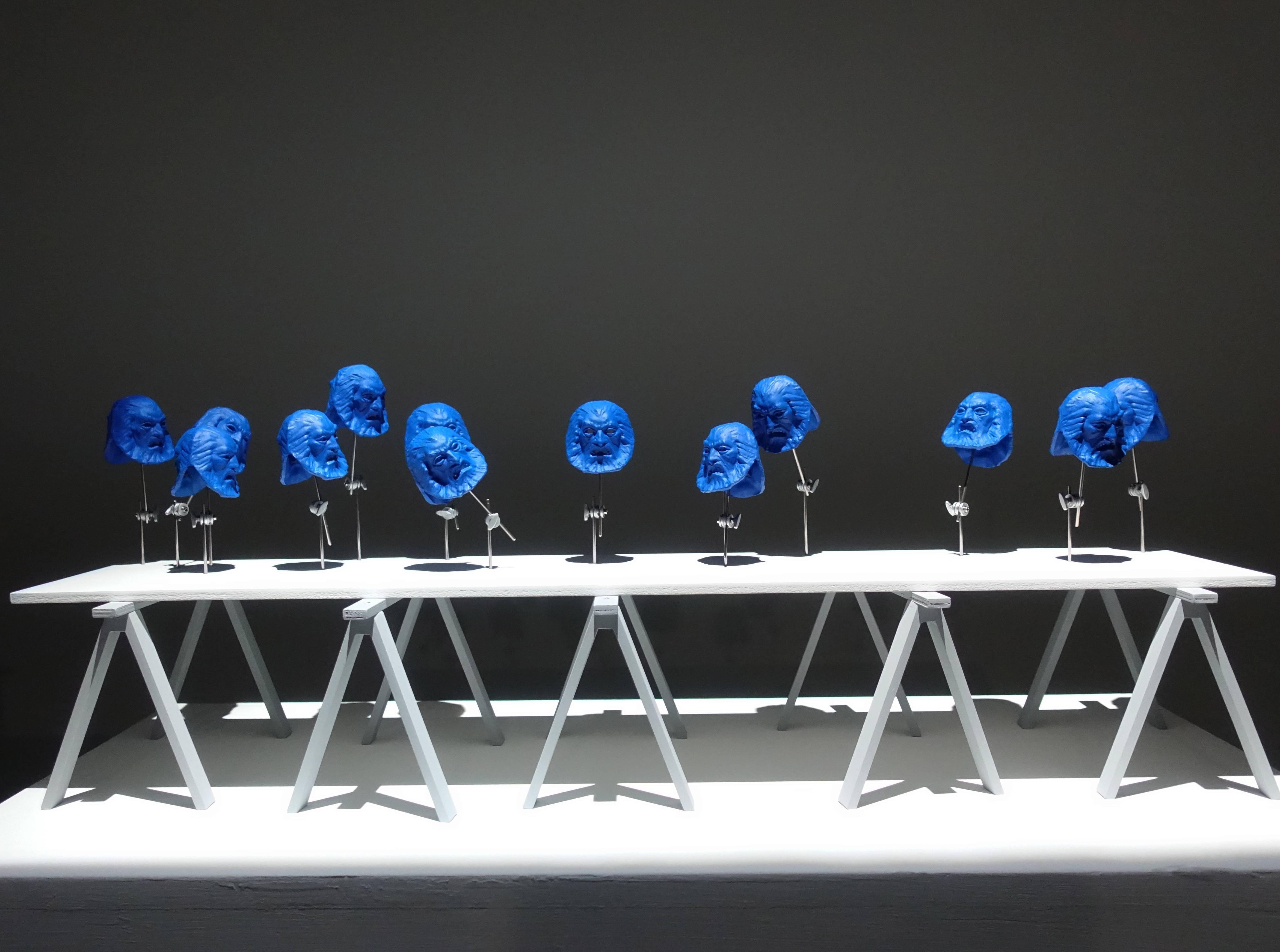 Florian Claar,《Table Huntes 桌 獵人》,28 x 75 x 20 cm,PLA、wood PLA、木頭,2019。