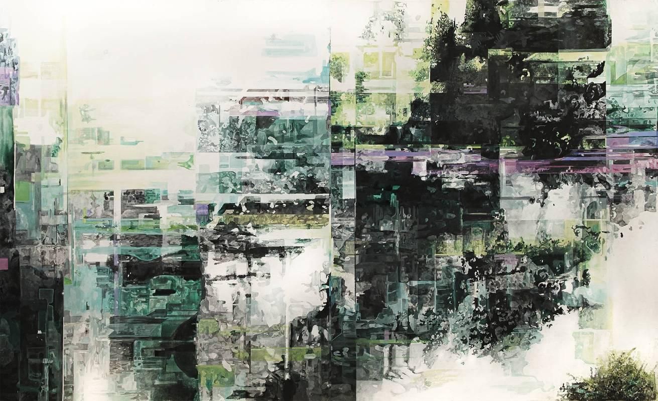 一縷滯留系列-M 2019 油彩、壓克力、畫布  161×258 cm