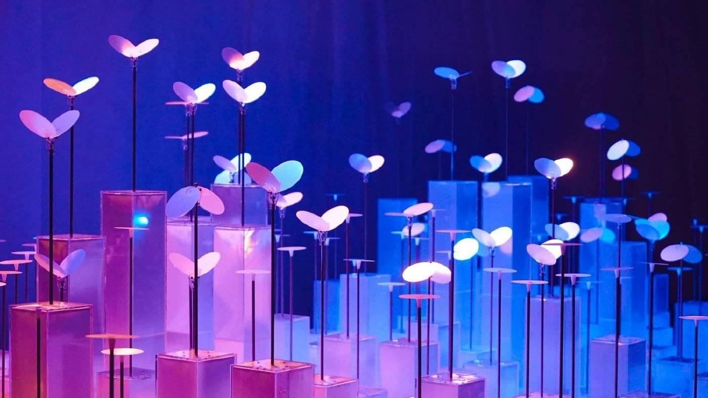 何理 WHYIXD Spectrum light : Butterfly 虹光複合媒材 15x25x75cm2019