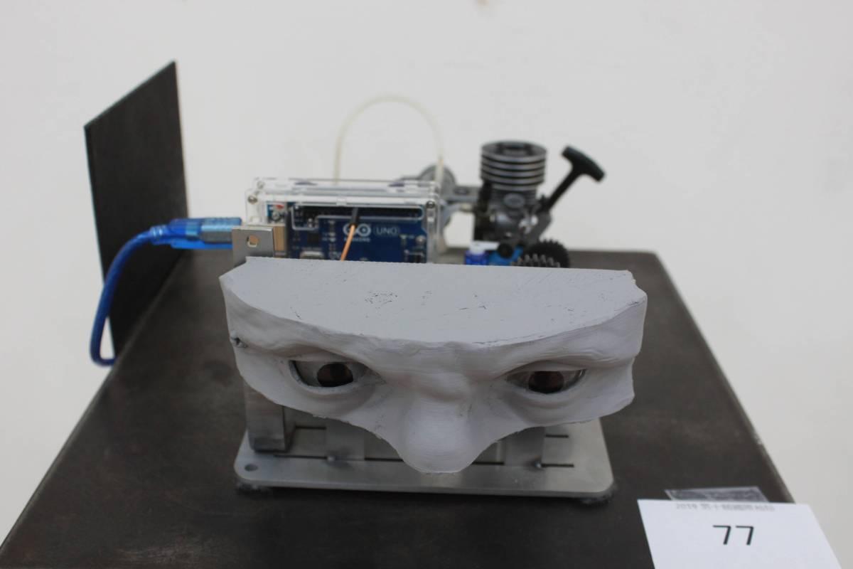 陳欣孟《躁鬱》機械裝置。圖/國立台灣藝術大學雕塑學系提供